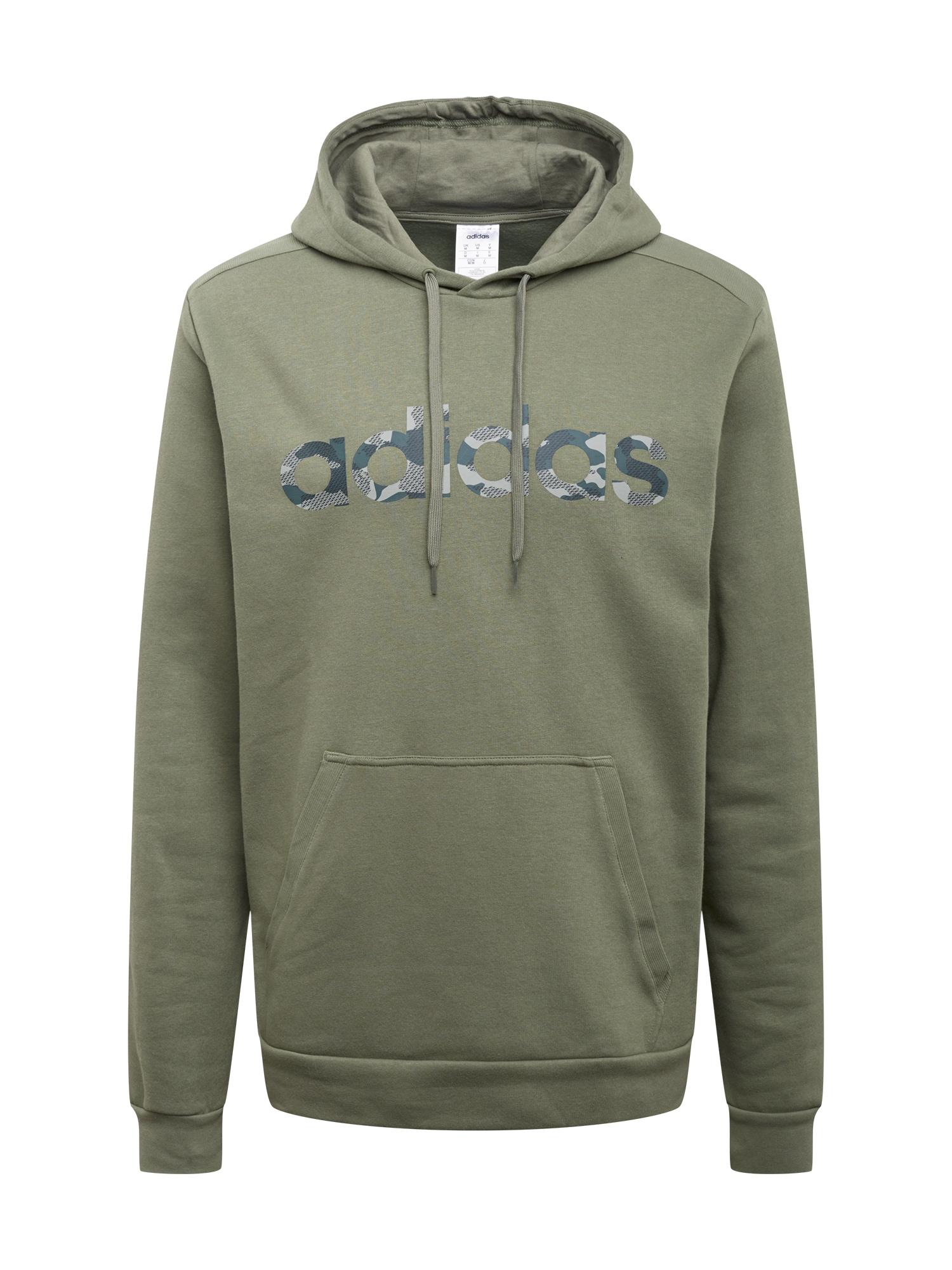 ADIDAS PERFORMANCE Sportinio tipo megztinis žalia / tamsiai žalia