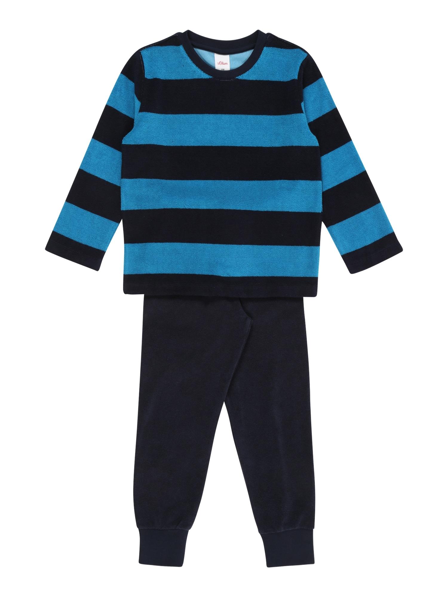 s.Oliver Junior Pyžamo  námořnická modř / černá / světlemodrá