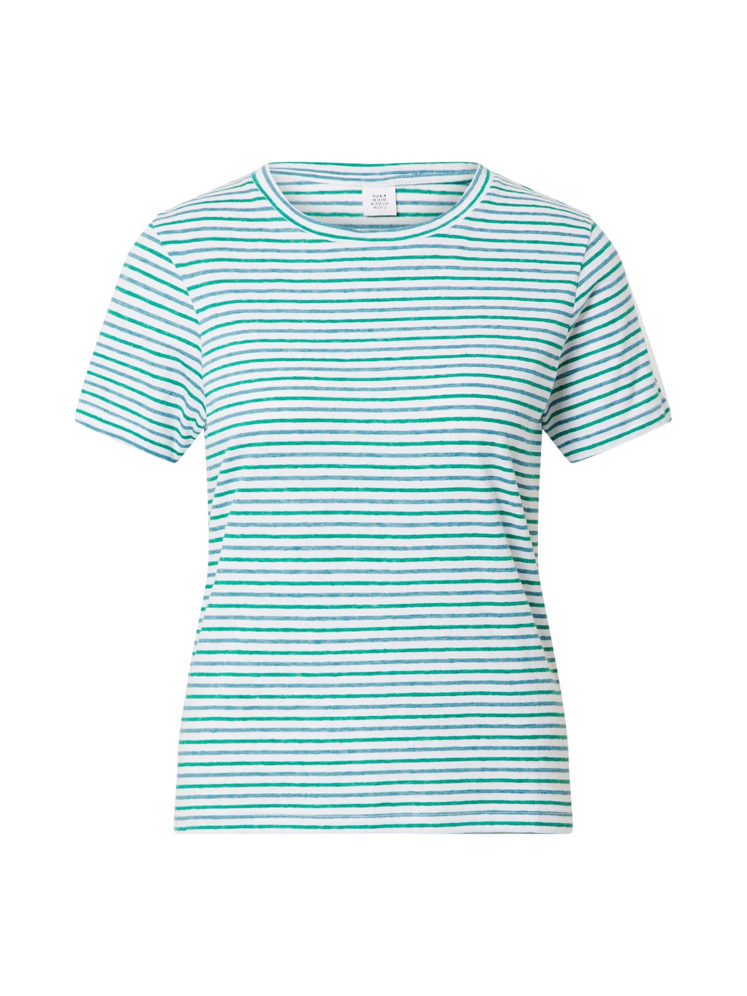 Kauf Dich Glücklich Marškinėliai šviesiai mėlyna / smaragdinė spalva / balta / melsvai pilka