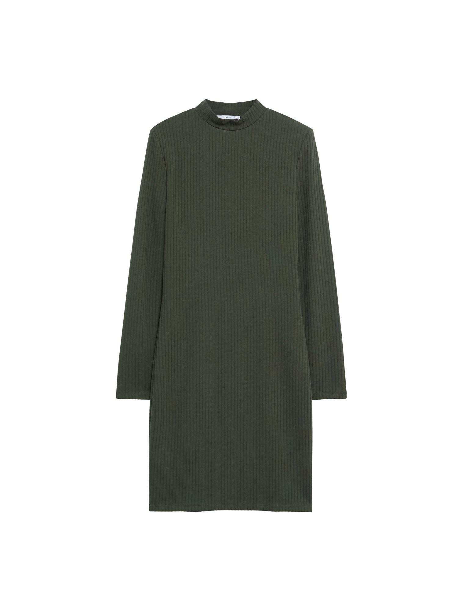 MANGO Úpletové šaty 'Rosario'  khaki