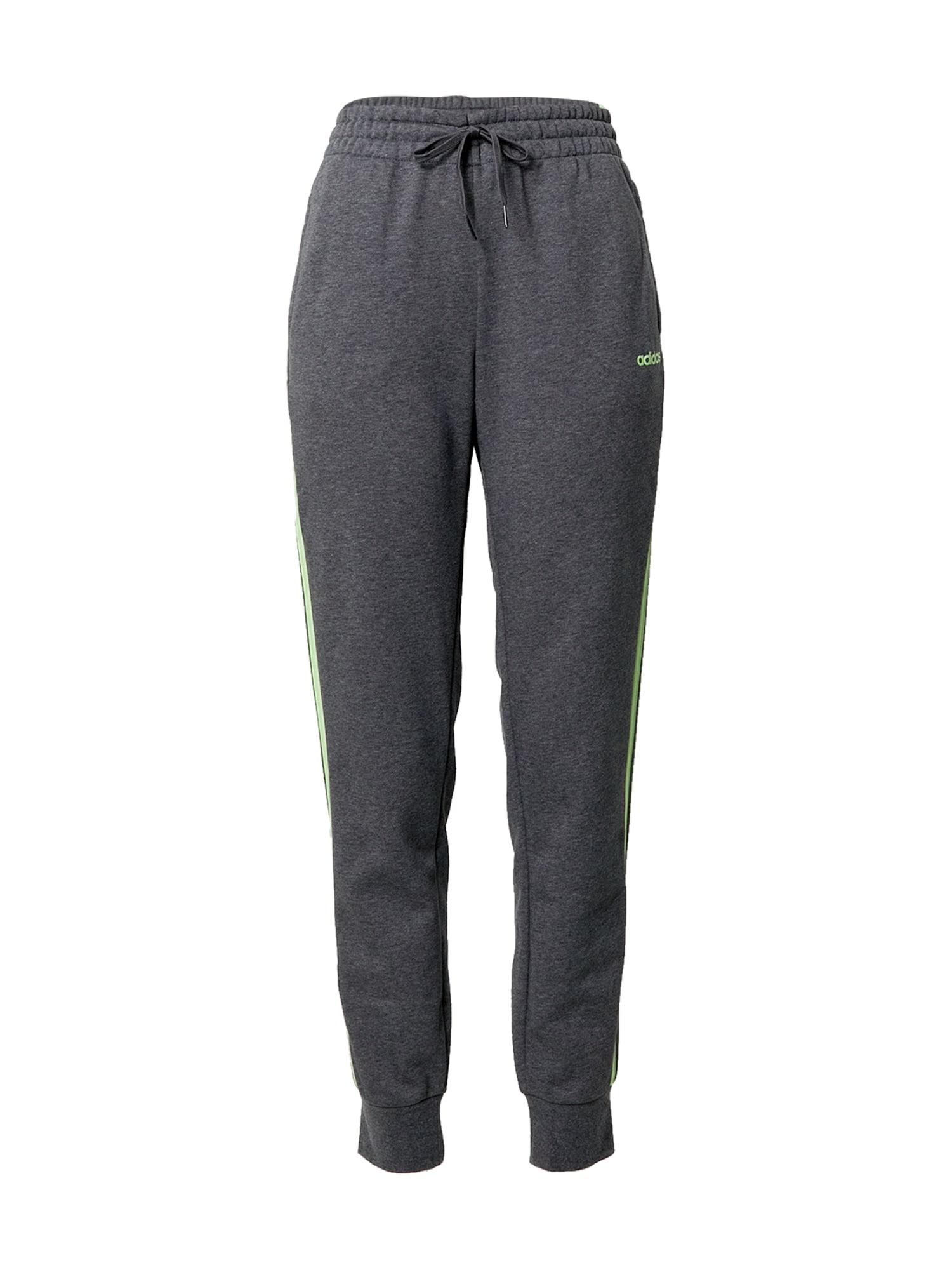 ADIDAS PERFORMANCE Sportovní kalhoty  zelený melír / svítivě zelená