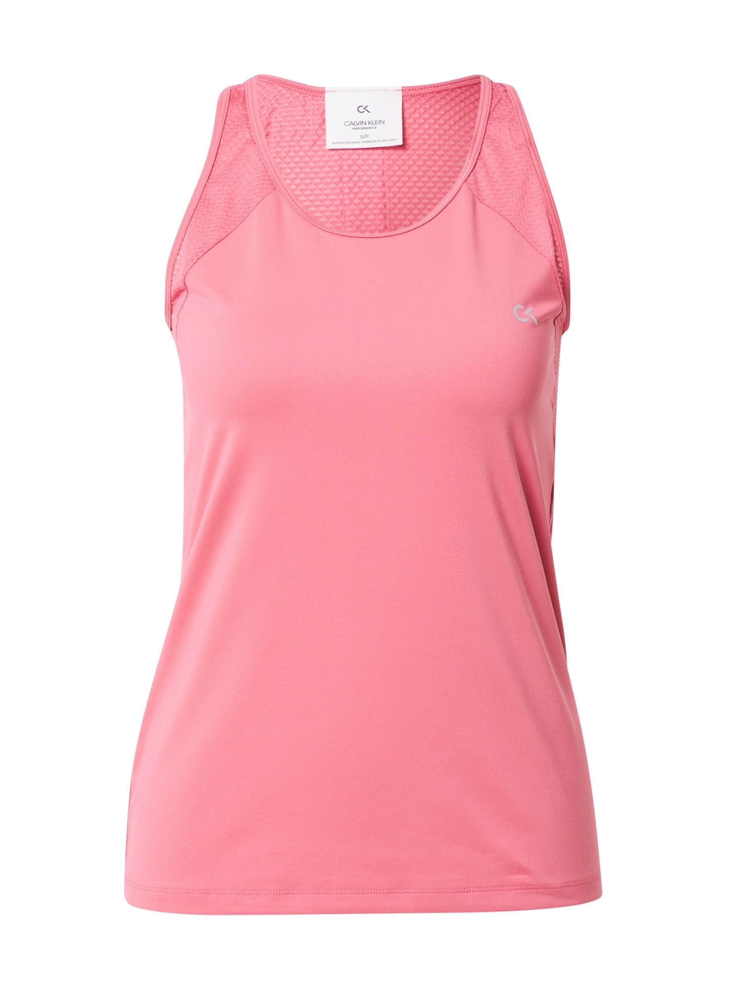 Calvin Klein Performance Sportiniai marškinėliai be rankovių rožinė