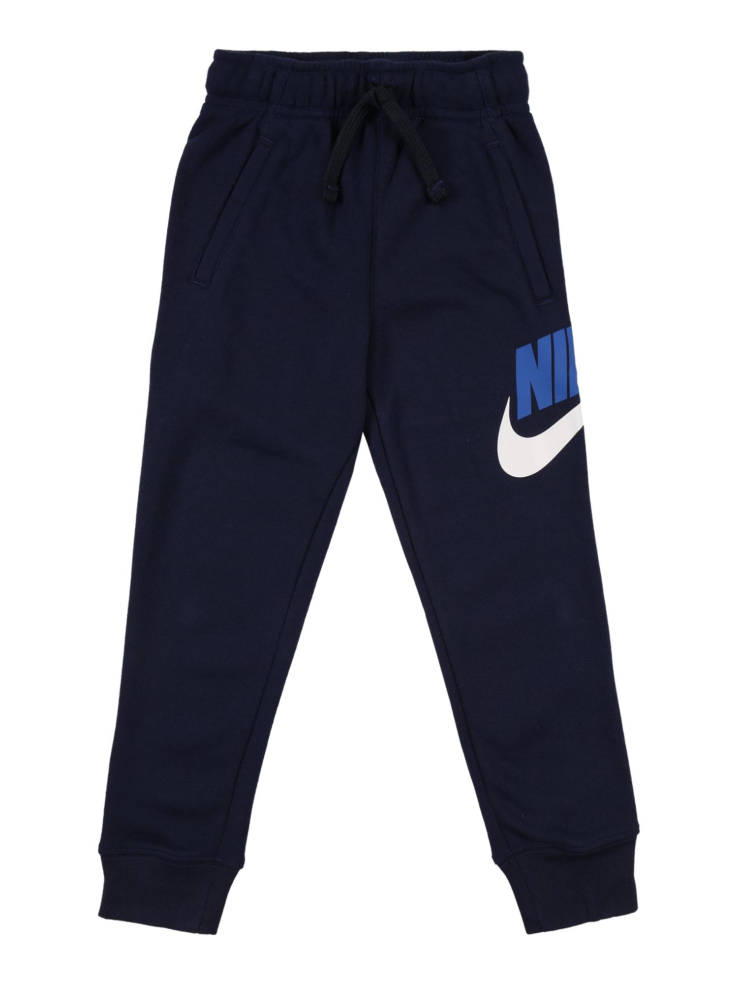 Nike Sportswear Kelnės balta / tamsiai mėlyna / dangaus žydra