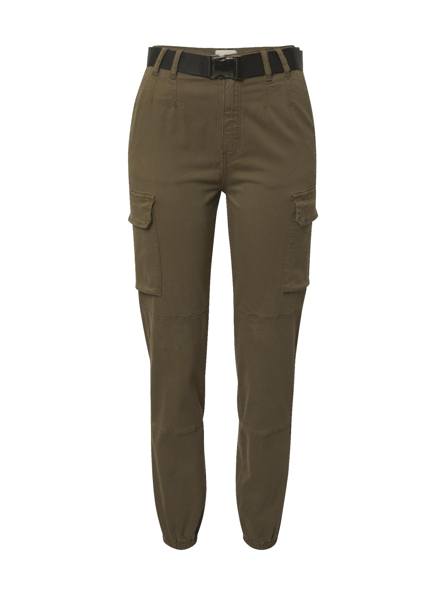 Tally Weijl Darbinio stiliaus džinsai rusvai žalia
