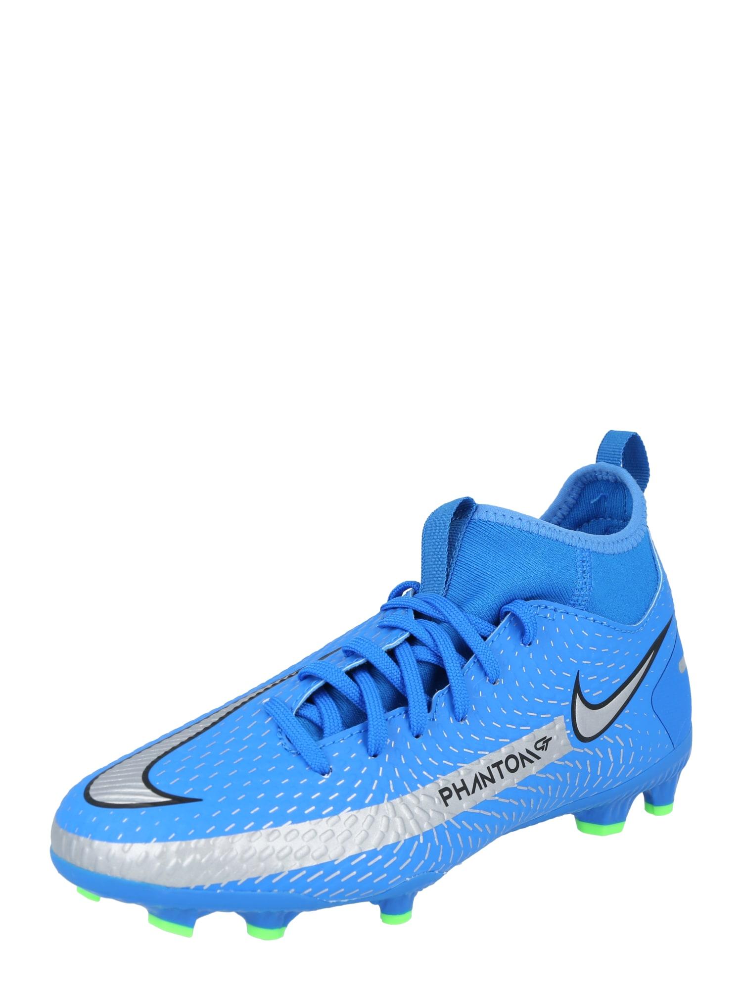 """NIKE Sportiniai batai 'Phantom GT Academy' sidabrinė / juoda / sodri mėlyna (""""karališka"""")"""