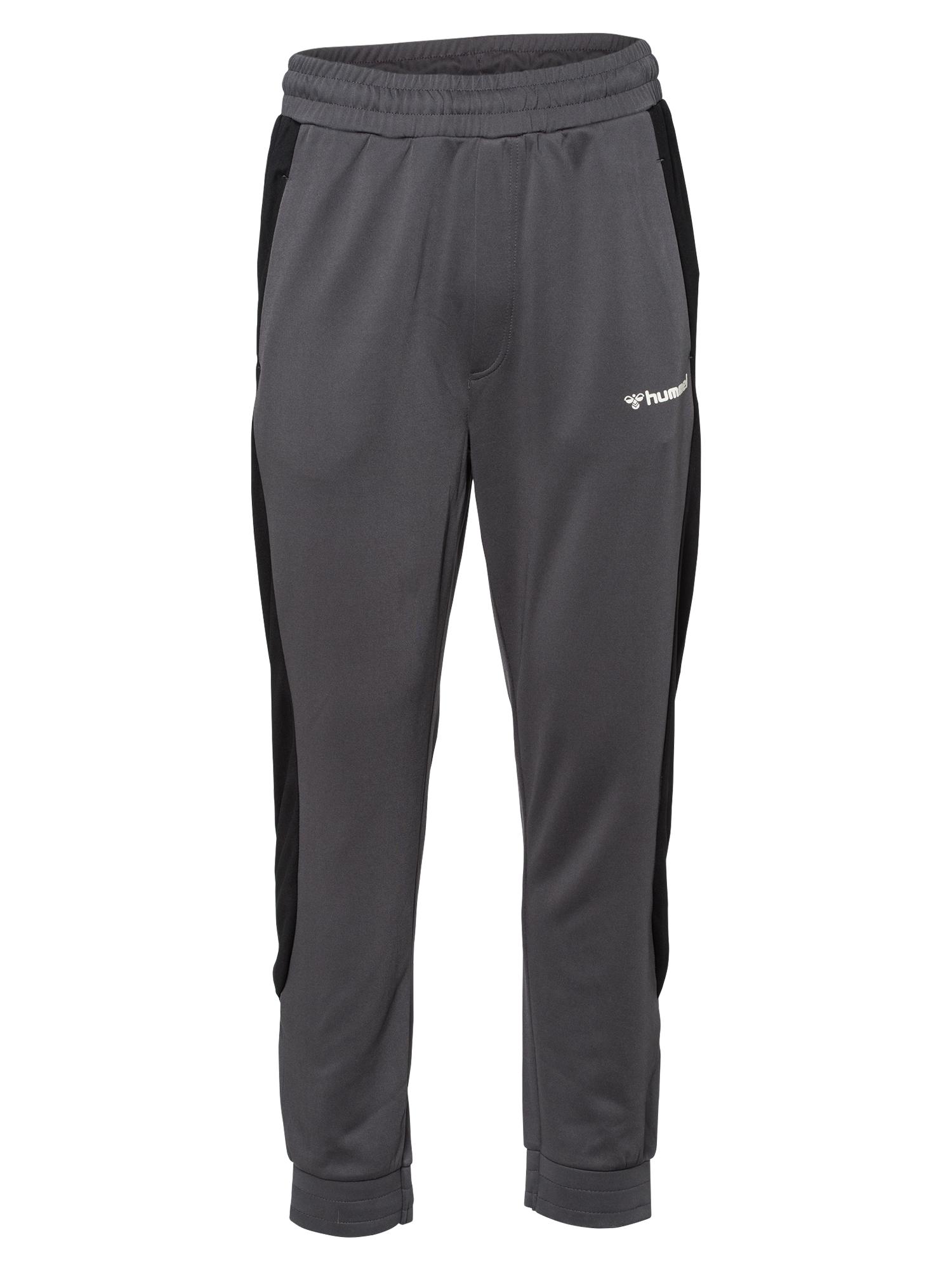 Hummel Sportinės kelnės pilka / juoda / balta