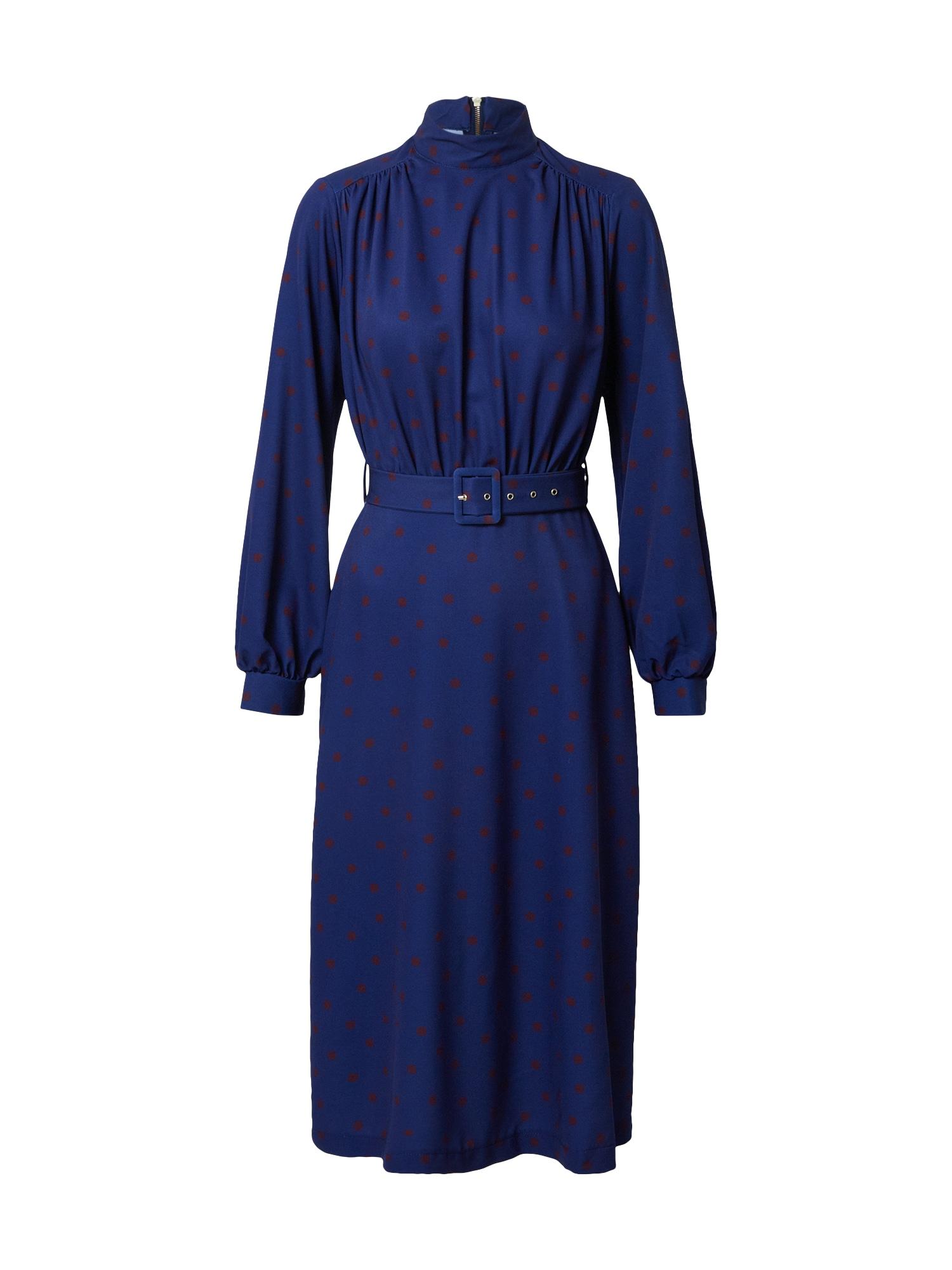 Closet London Suknelė tamsiai mėlyna / rūdžių raudona