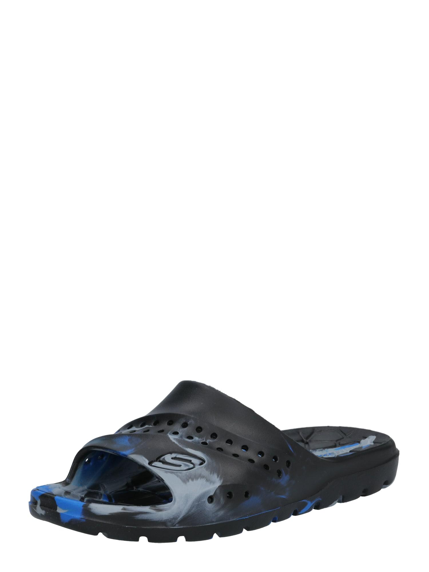 SKECHERS Plážová/koupací obuv  královská modrá / černá / šedá