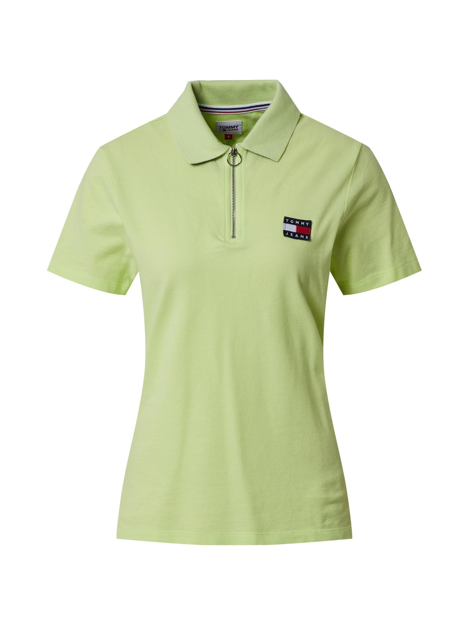 Tommy Jeans Marškinėliai žaliosios citrinos spalva