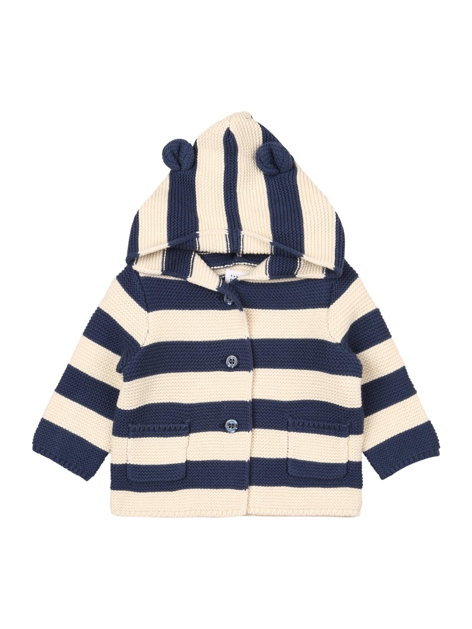 GAP Pletená bunda  modrá / bílá