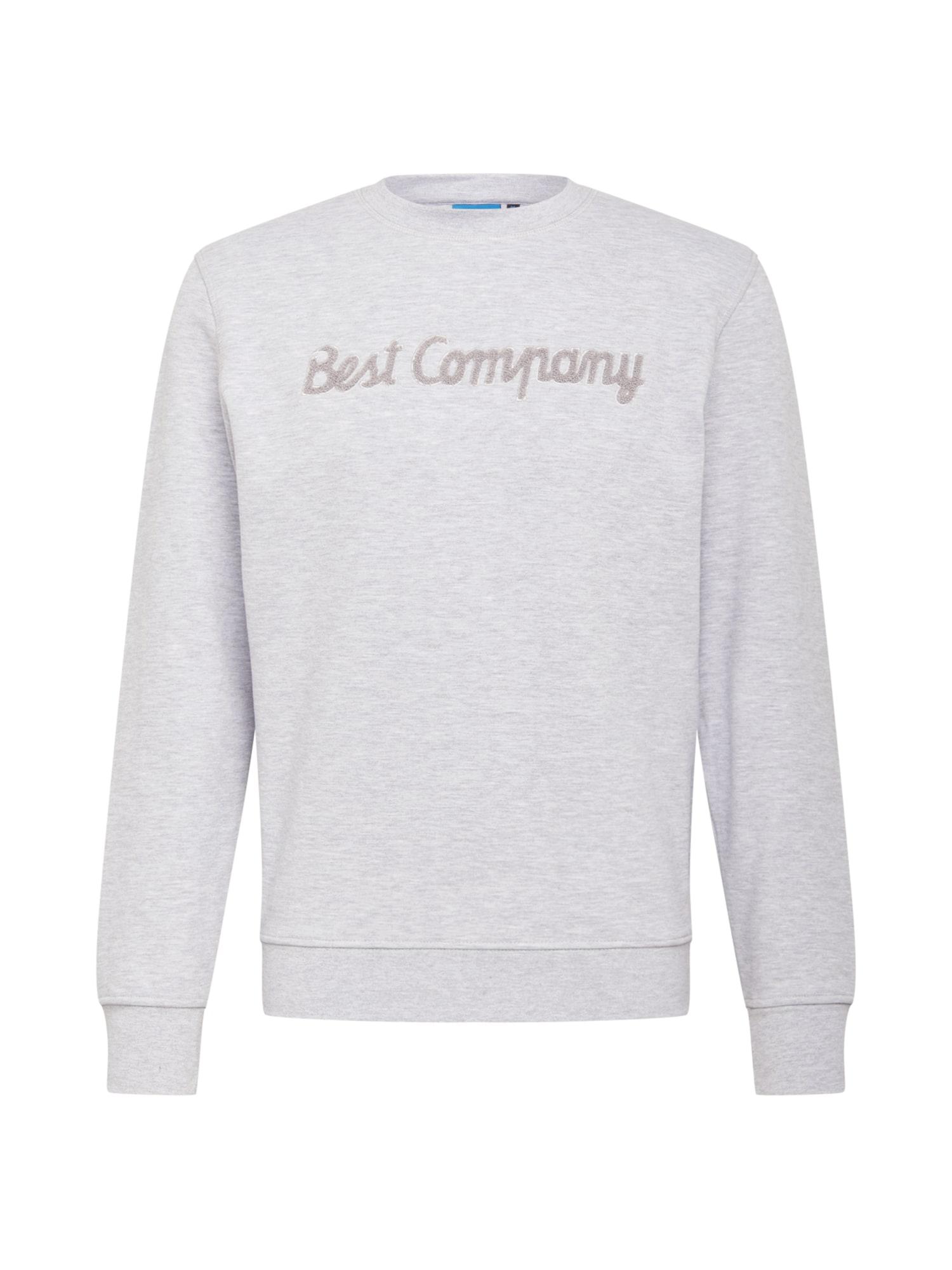 Best Company Megztinis be užsegimo margai pilka