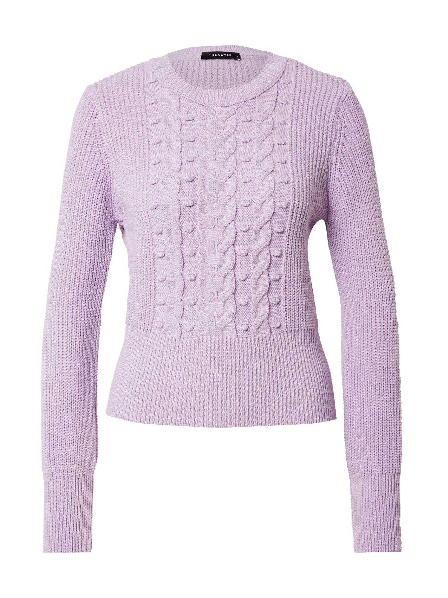 Trendyol Megztinis alyvinė spalva