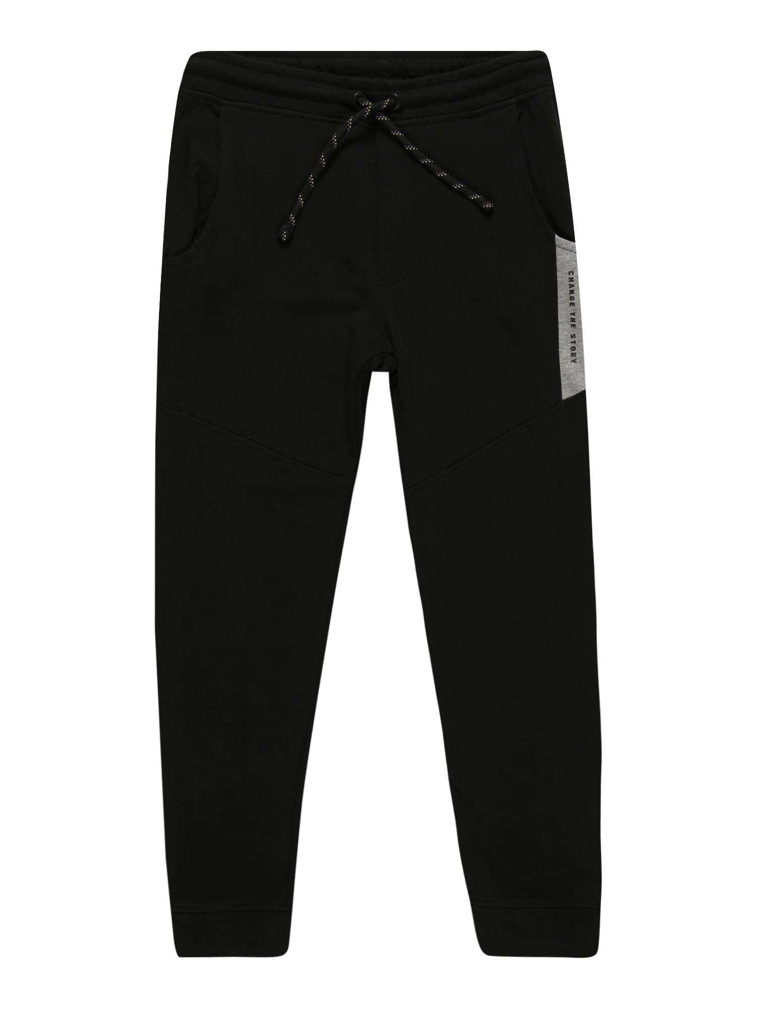 OVS Kalhoty  černá / šedá