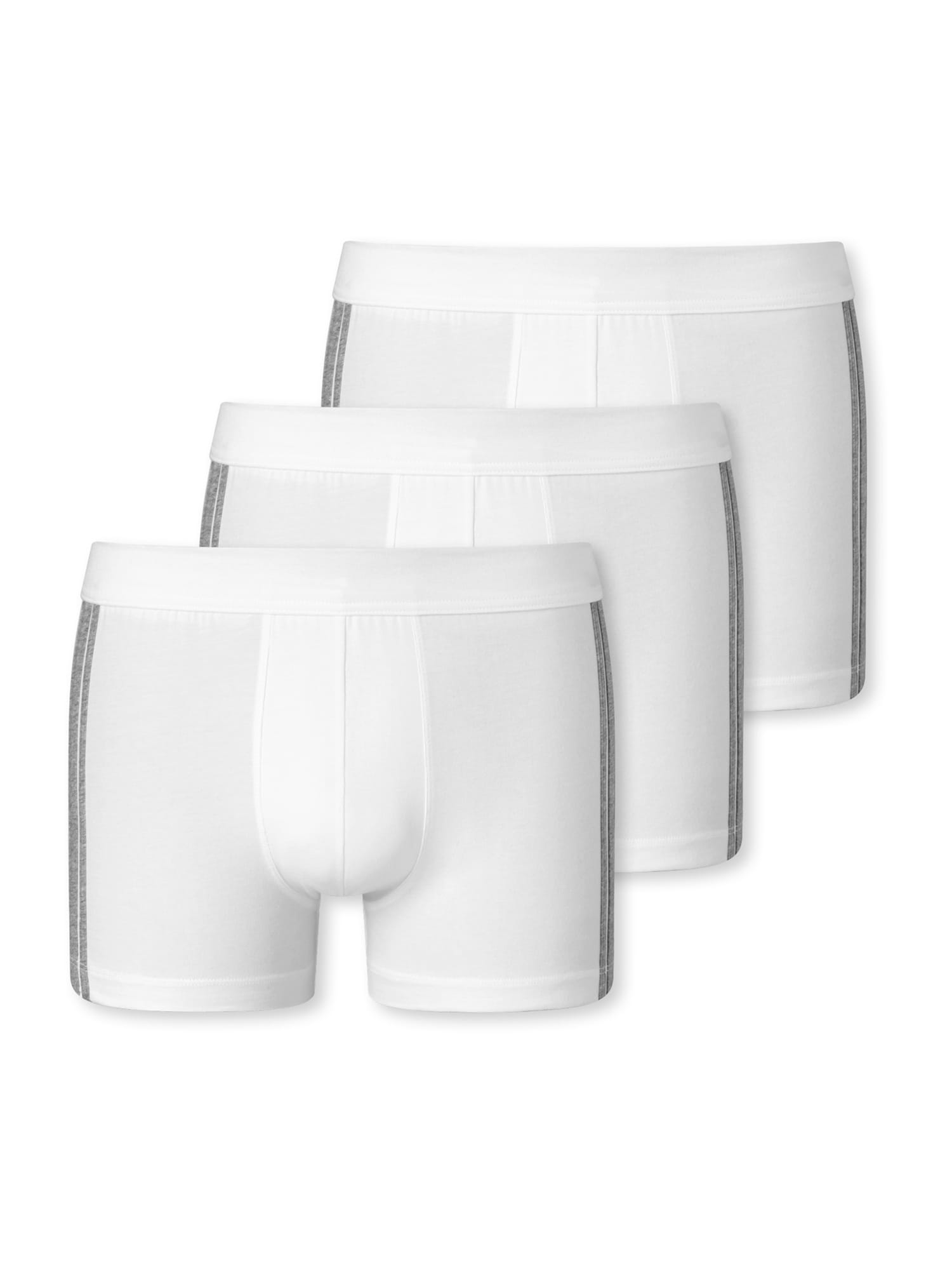 SCHIESSER Boxer trumpikės balta / margai pilka