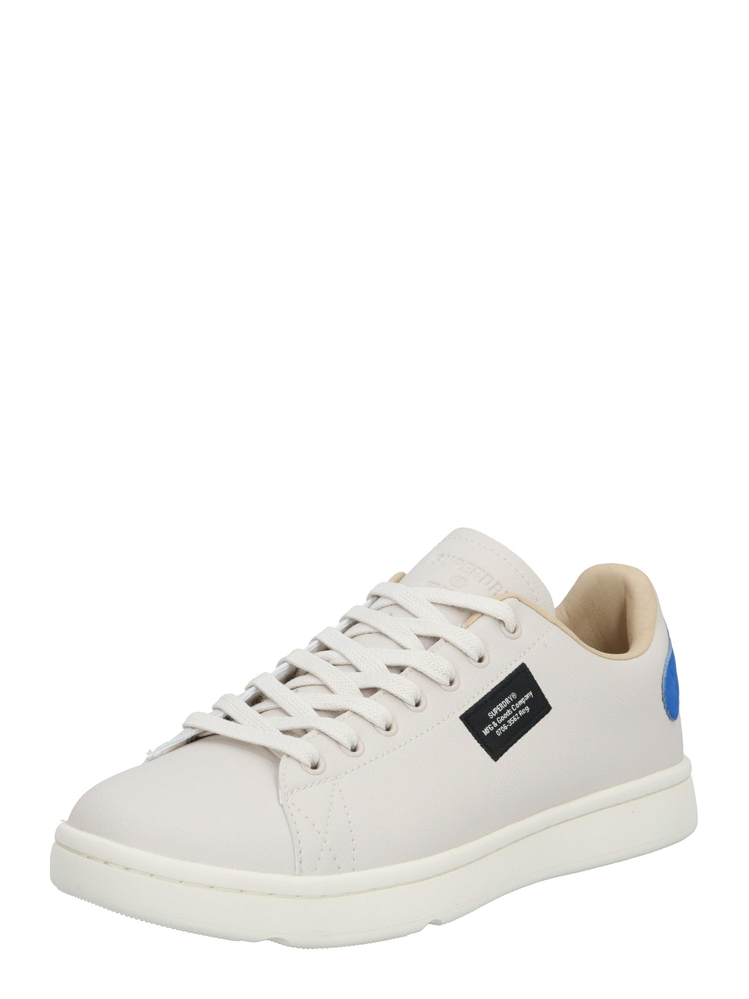 Superdry Sportiniai batai mėlyna / gelsvai pilka spalva / kremo