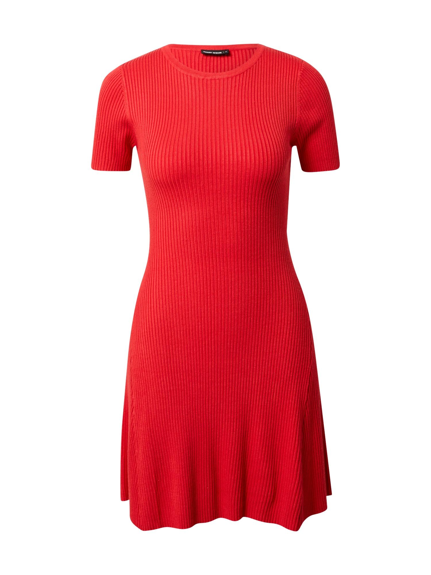 Tally Weijl Úpletové šaty  červená