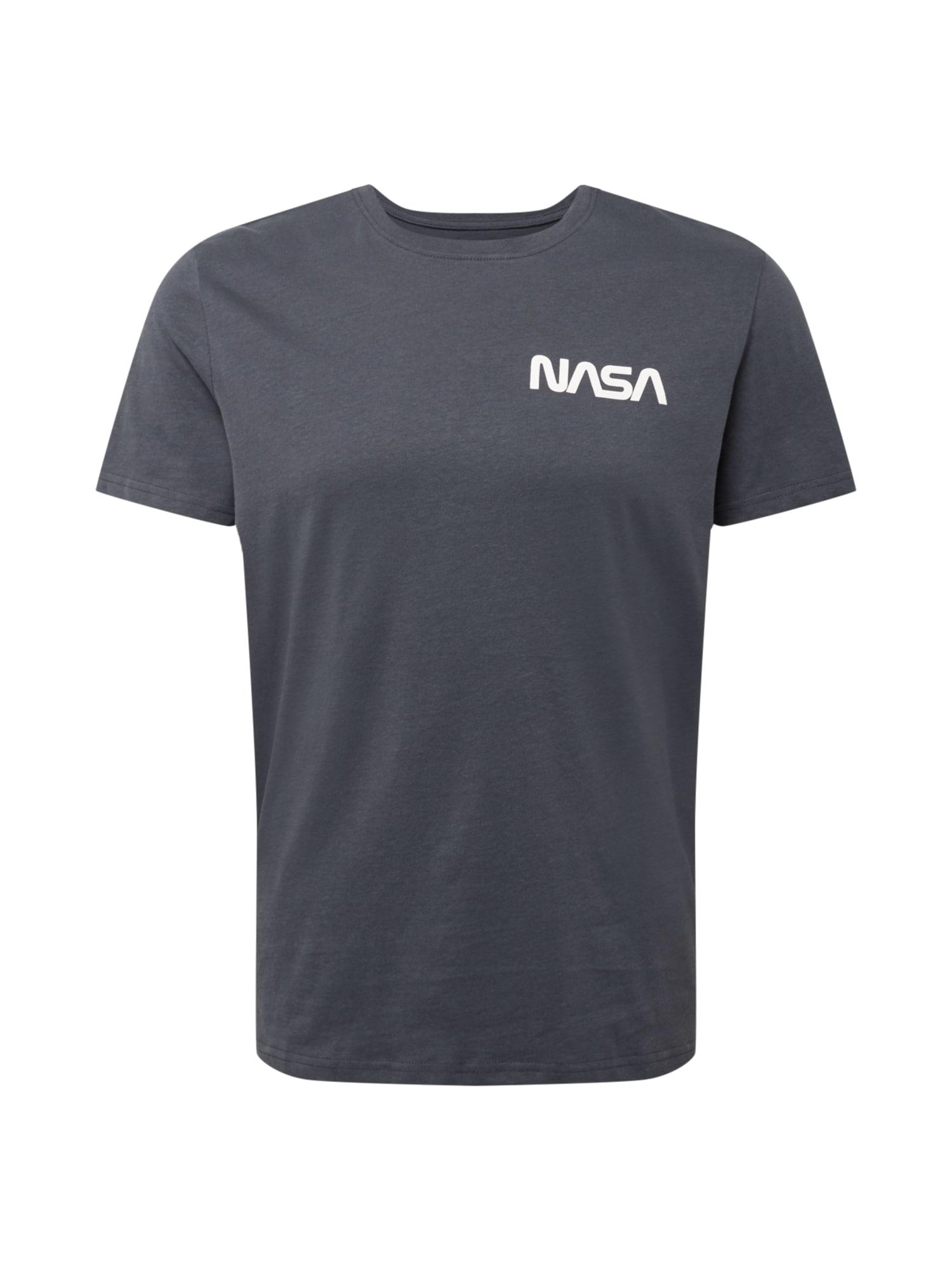 OVS Tričko 'NASA6'  šedá / bílá / červená / královská modrá