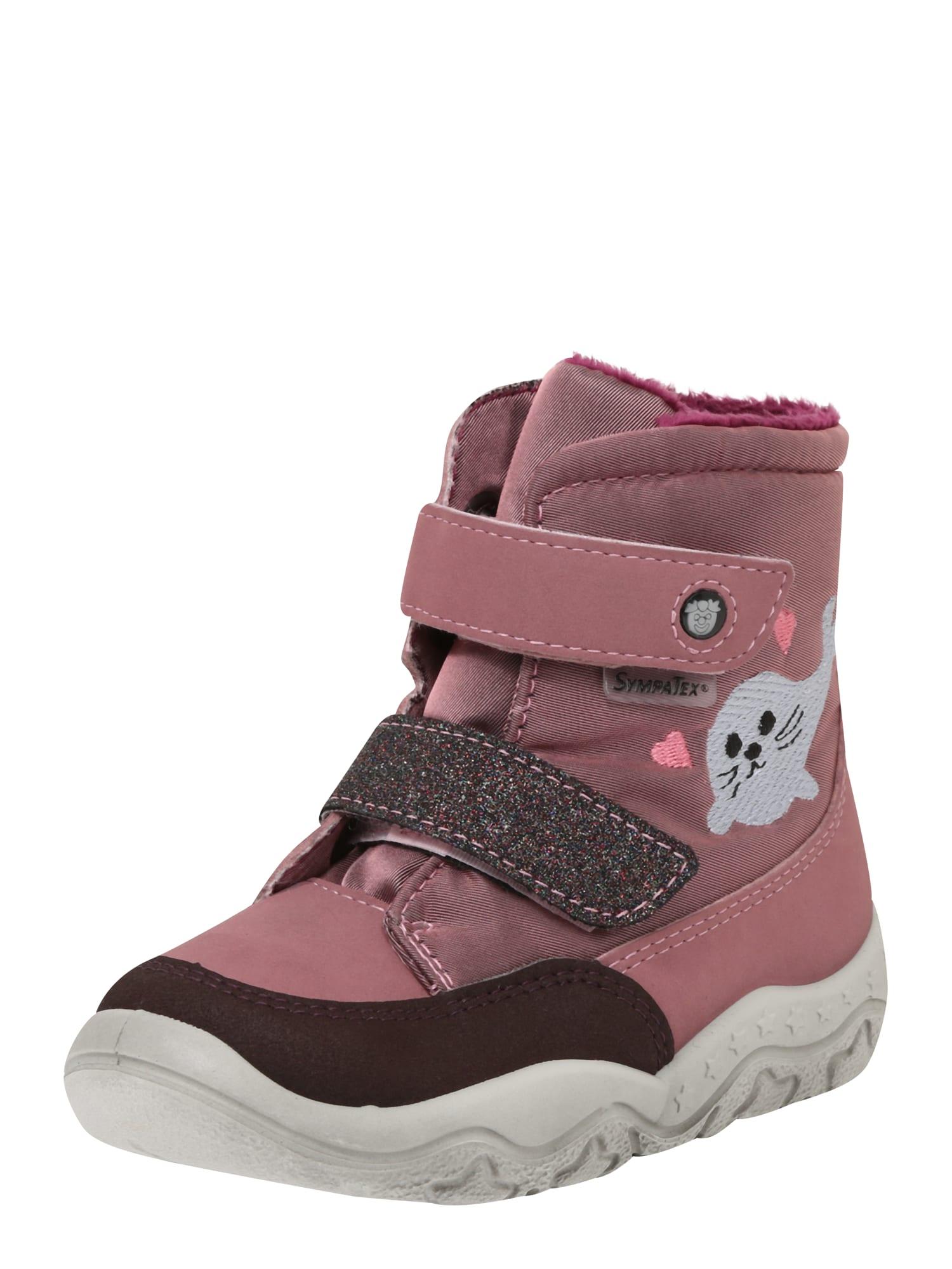 Pepino Sniego batai rožinė / uogų spalva / sidabrinė