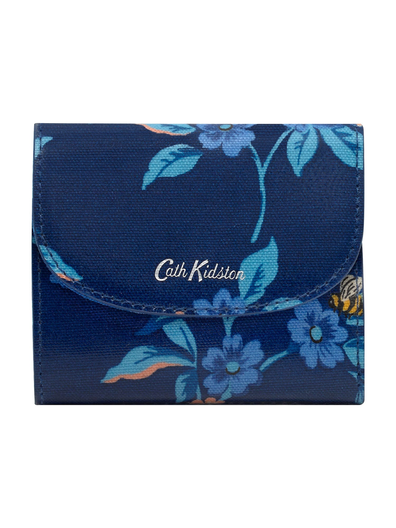 Cath Kidston Piniginė nakties mėlyna / šviesiai mėlyna / persikų spalva