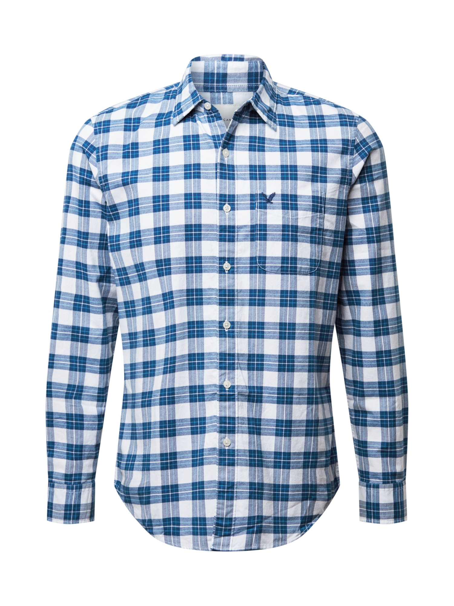 American Eagle Košile  modrá / bílá