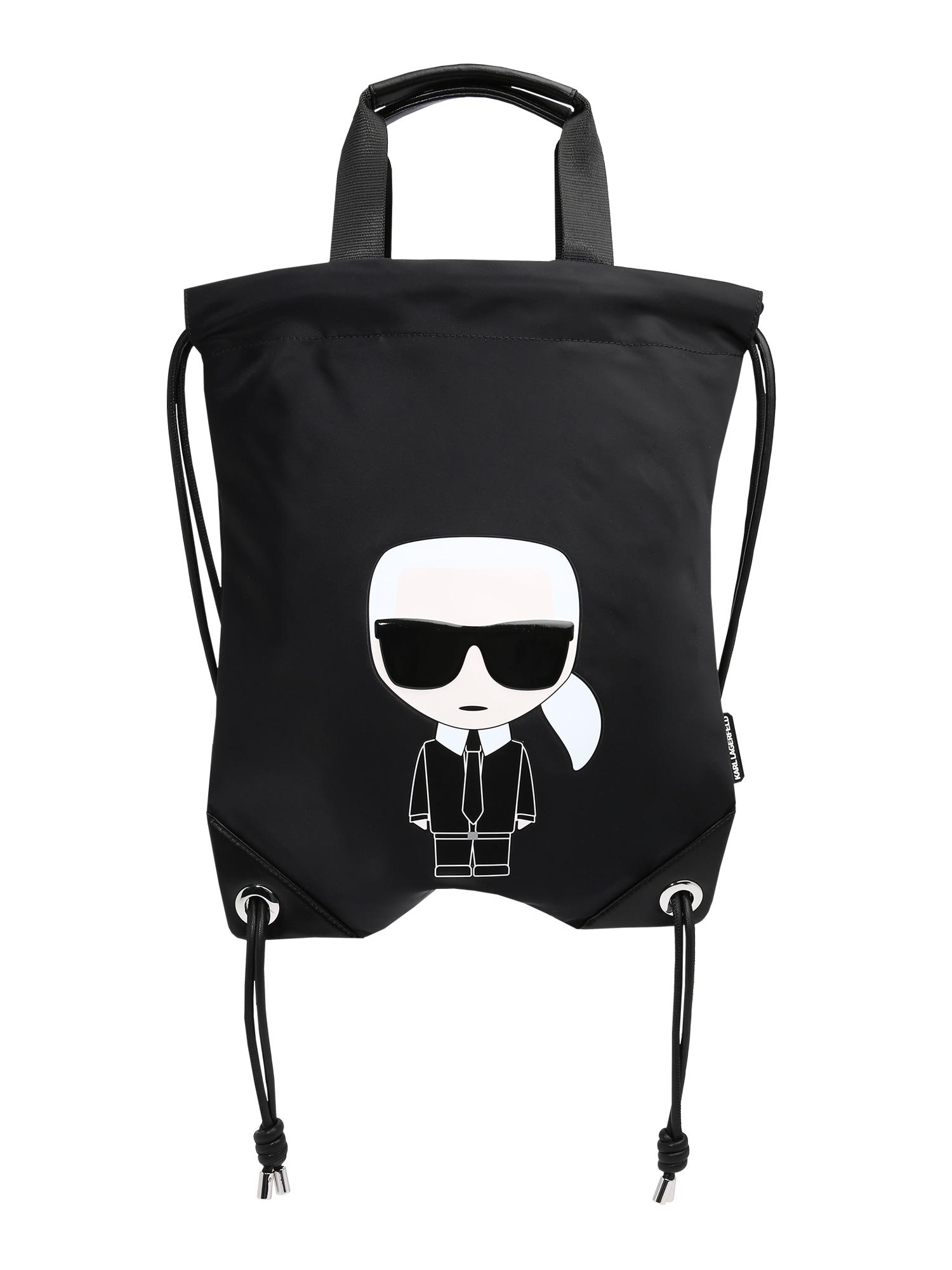 Karl Lagerfeld Krepšys-maišas juoda / balta