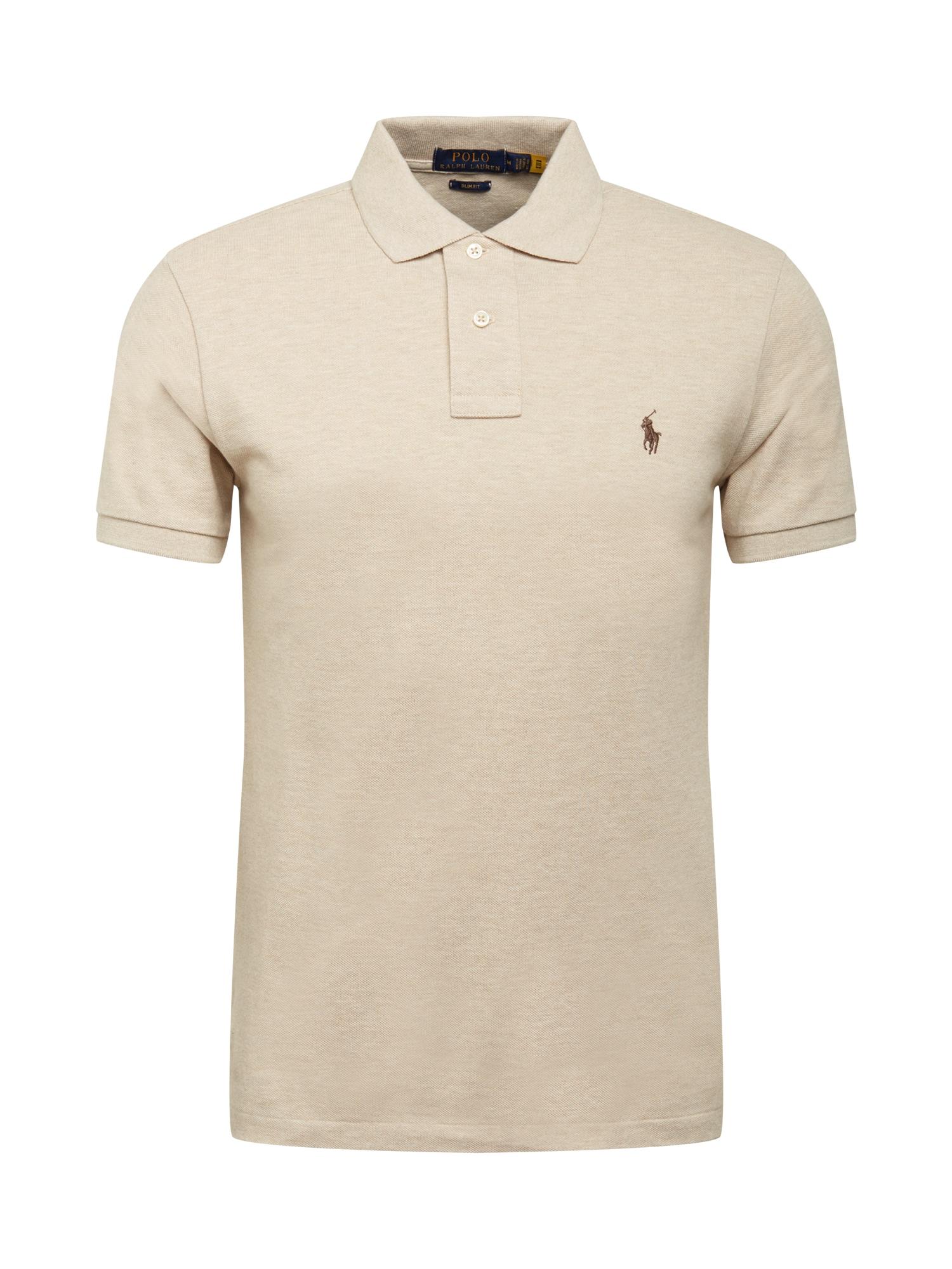 POLO RALPH LAUREN Marškinėliai smėlio / ruda