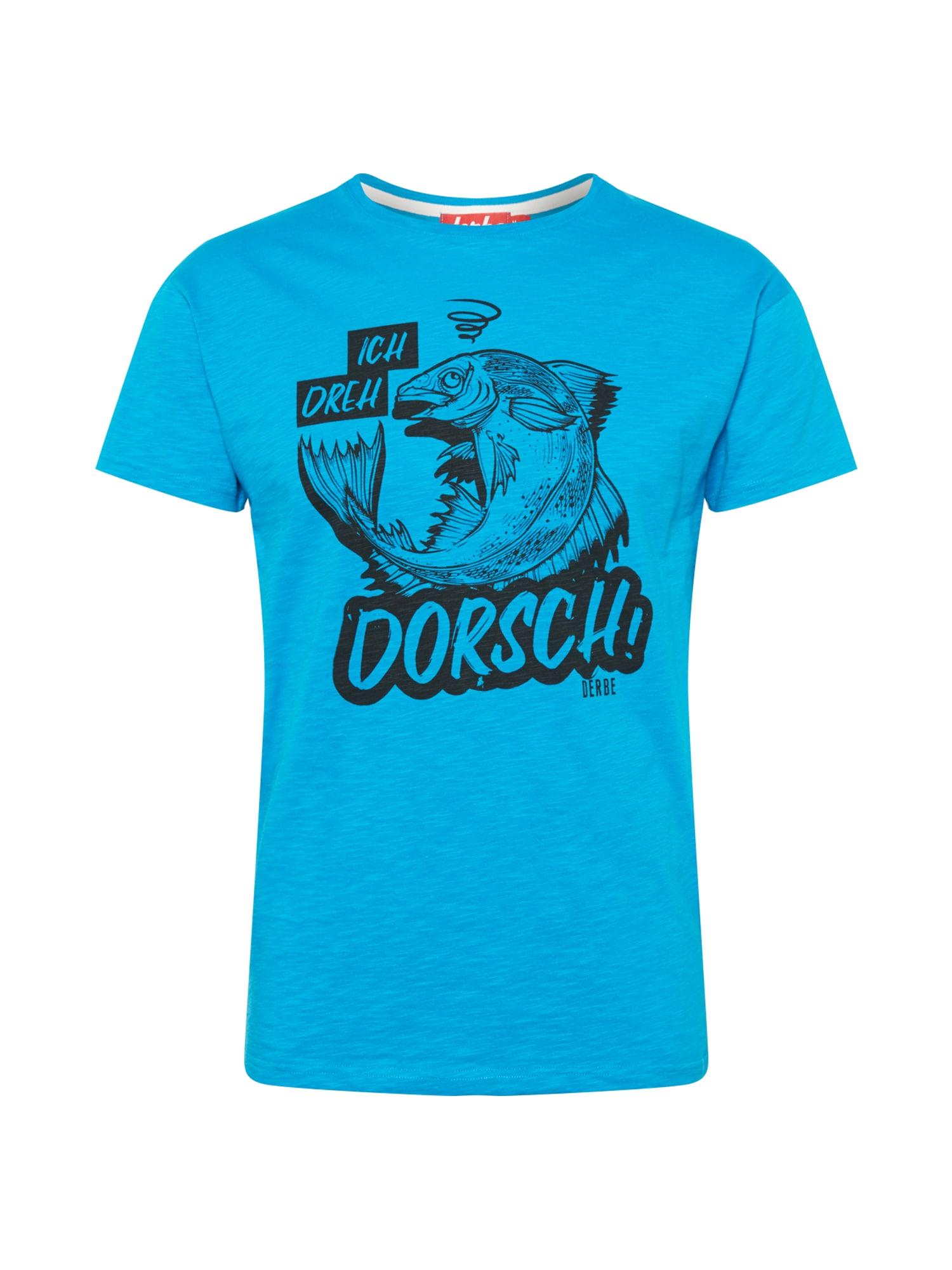 Derbe Marškinėliai šviesiai mėlyna / juoda