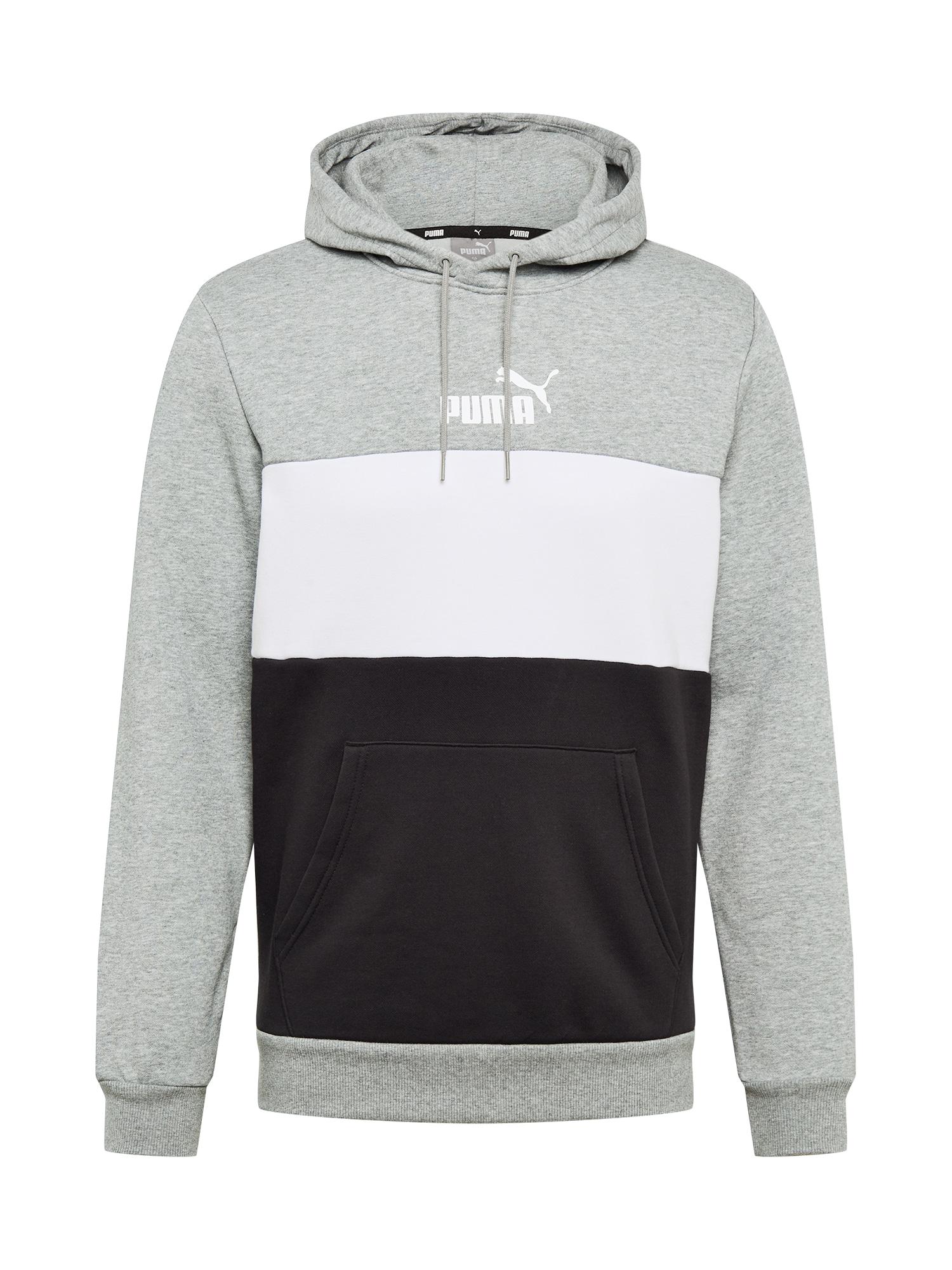 PUMA Sportinio tipo megztinis margai pilka / juoda / balta