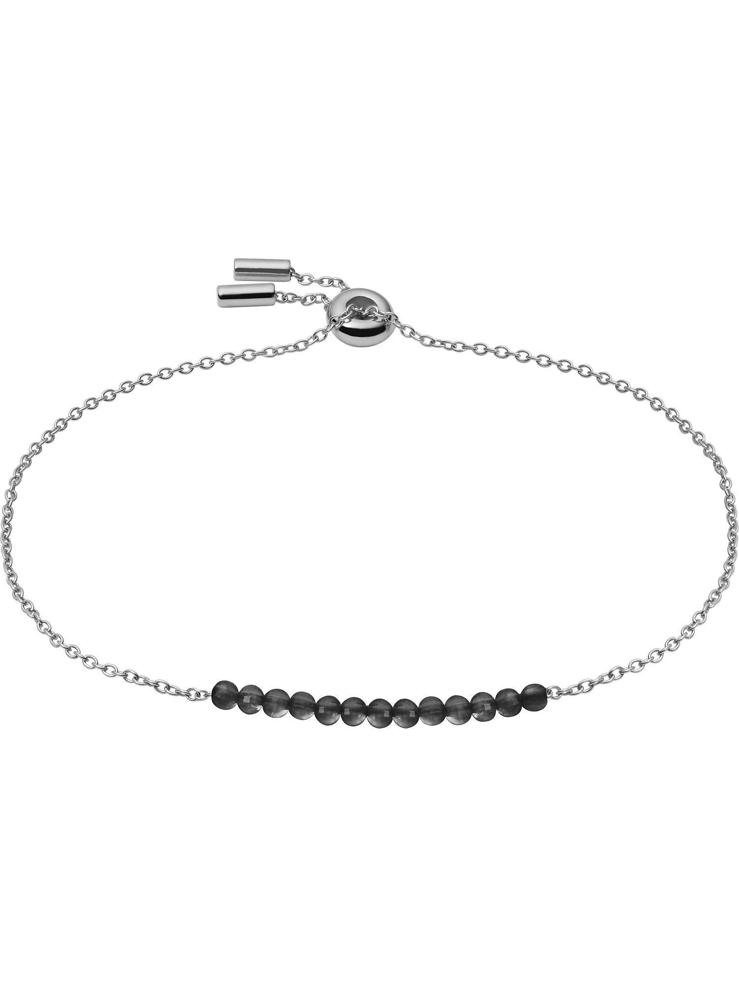 FOSSIL Apyrankė sidabrinė / juoda