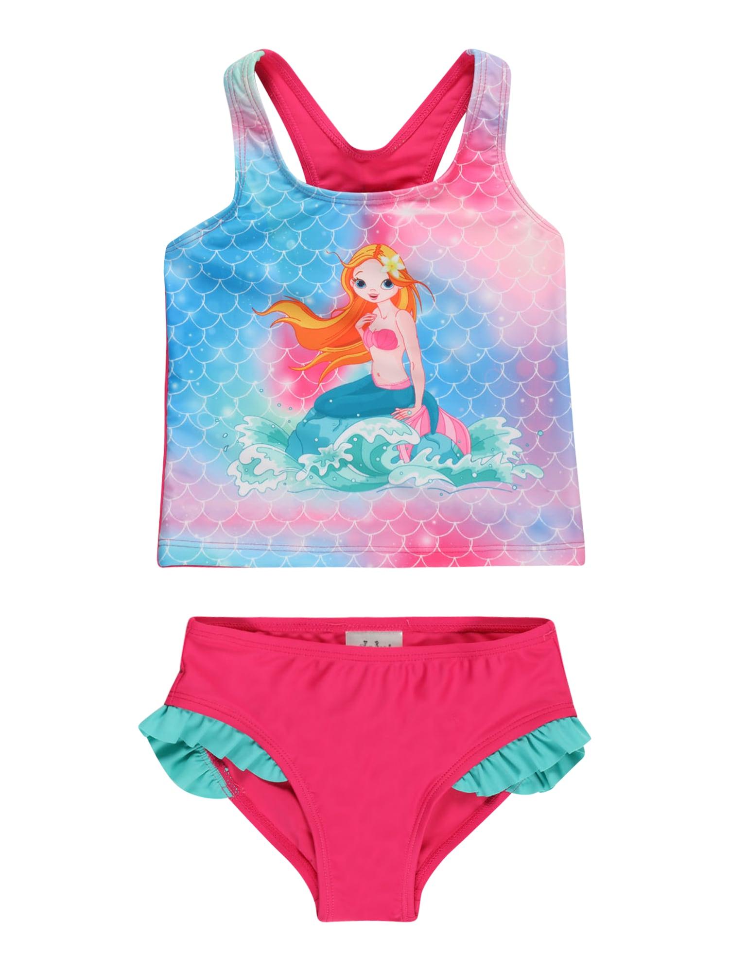 PLAYSHOES Bikinis rožinė / šviesiai mėlyna / aukso geltonumo spalva