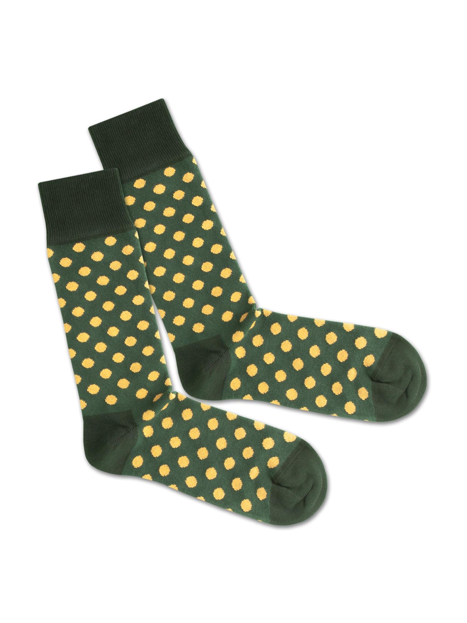DillySocks Ponožky 'SS20-13 Sun Flower Field'  žlutá / zelená