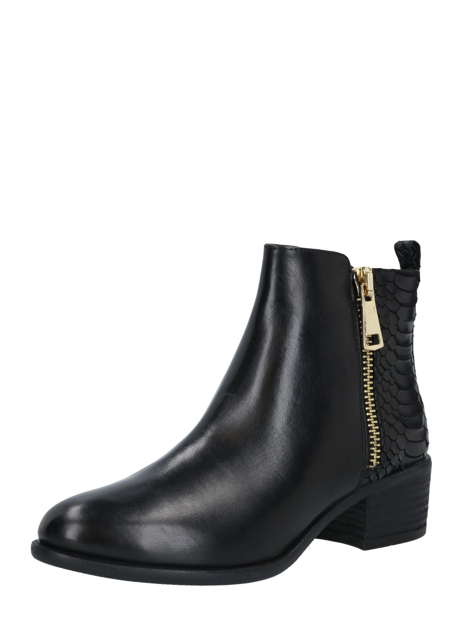 Steven New York Kotníkové boty 'Scarlett'  zlatá / černá