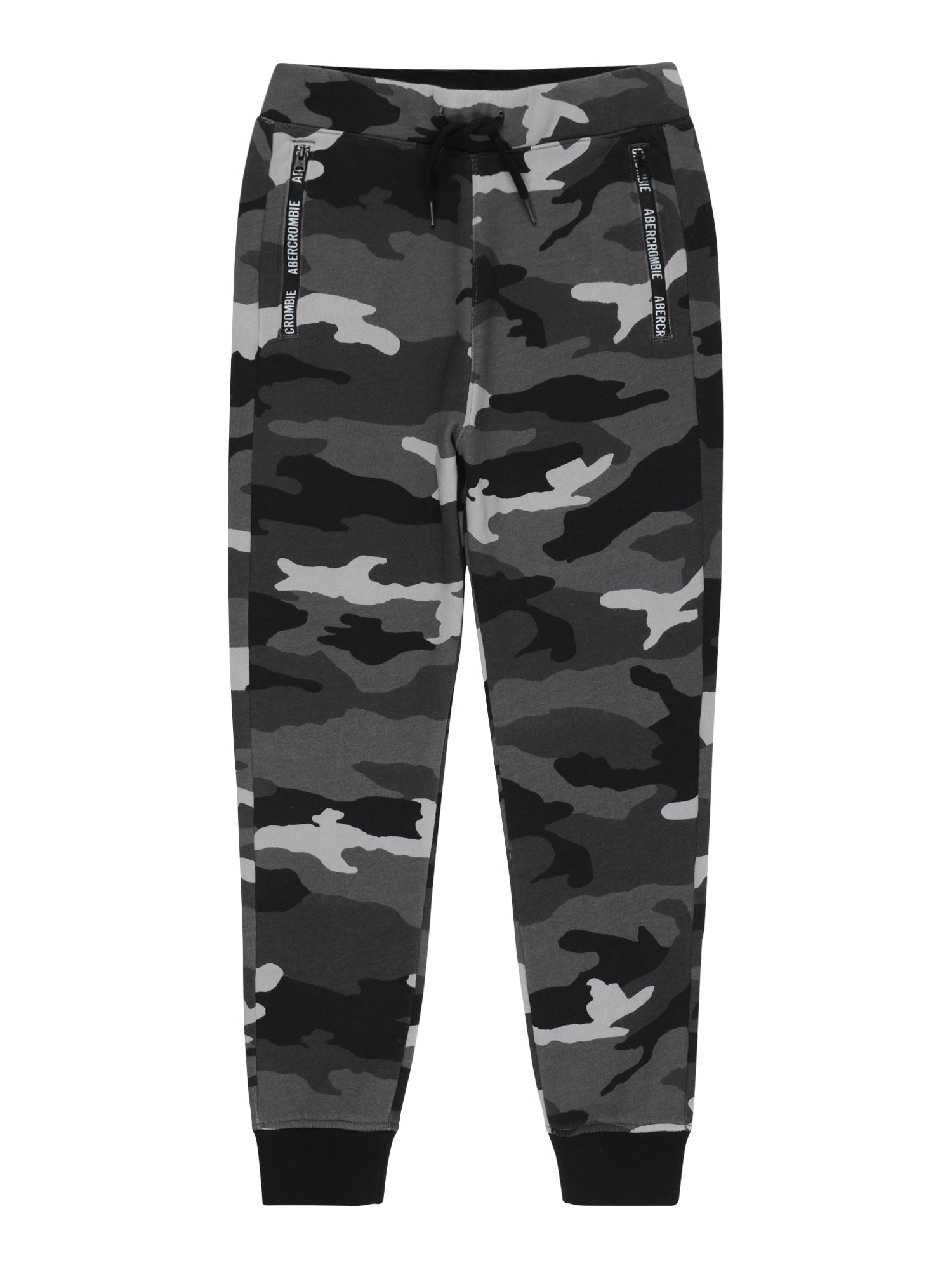 Abercrombie & Fitch Kelnės tamsiai pilka / antracito / šviesiai pilka