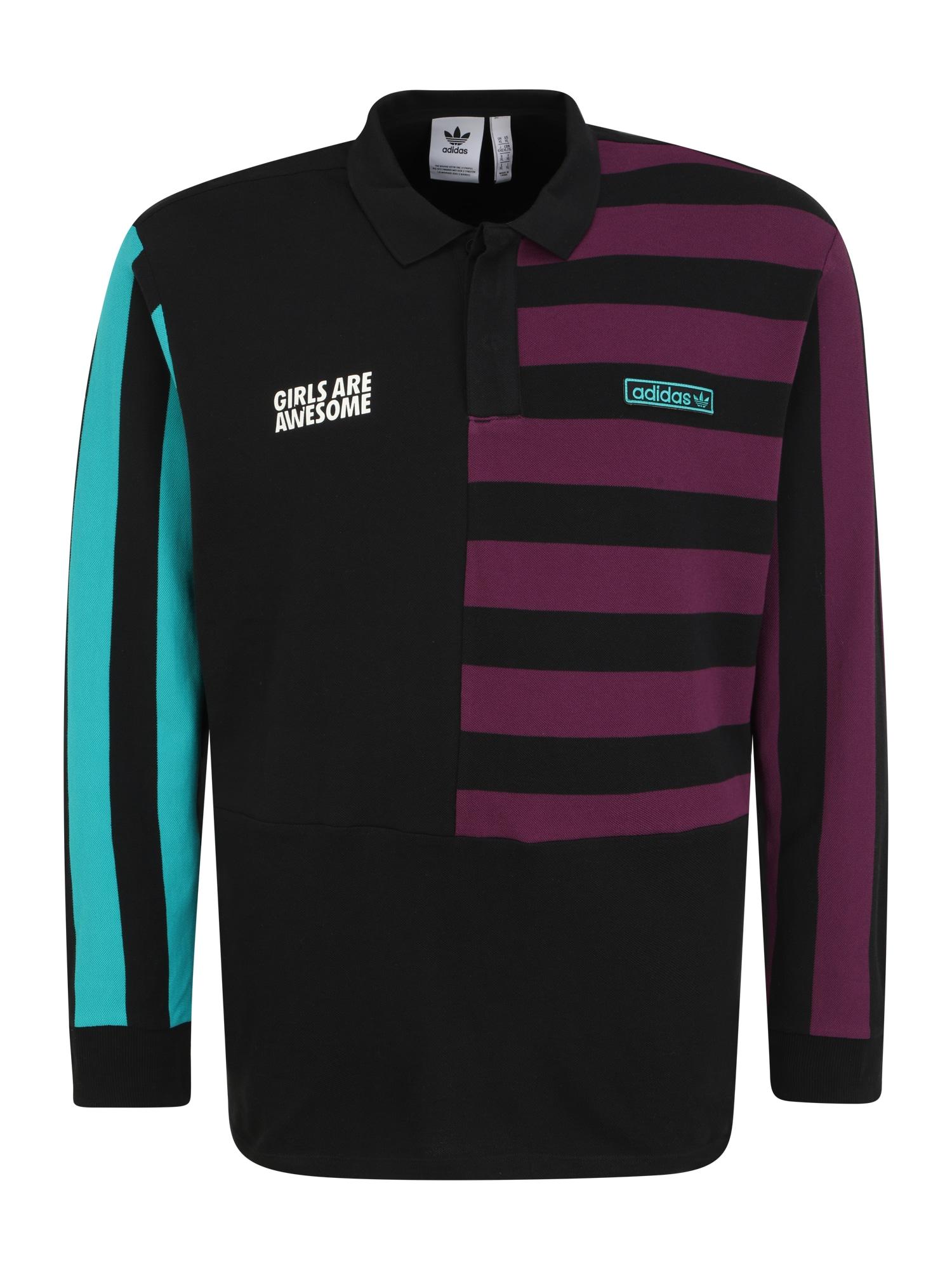 ADIDAS ORIGINALS Marškinėliai 'POLO LS UNISEX' juoda