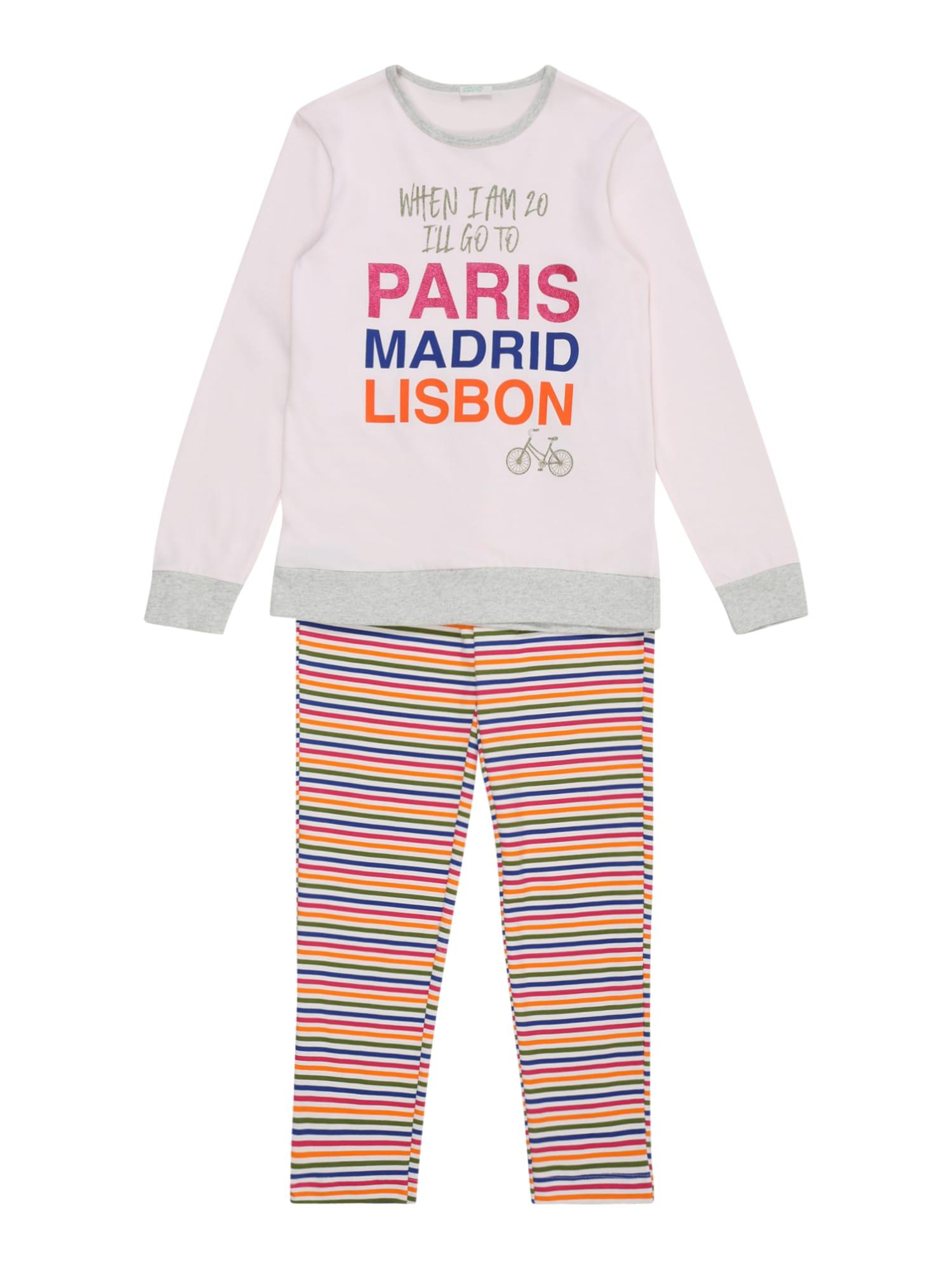 UNITED COLORS OF BENETTON Miego kostiumas mišrios spalvos / rožių spalva / rožinė