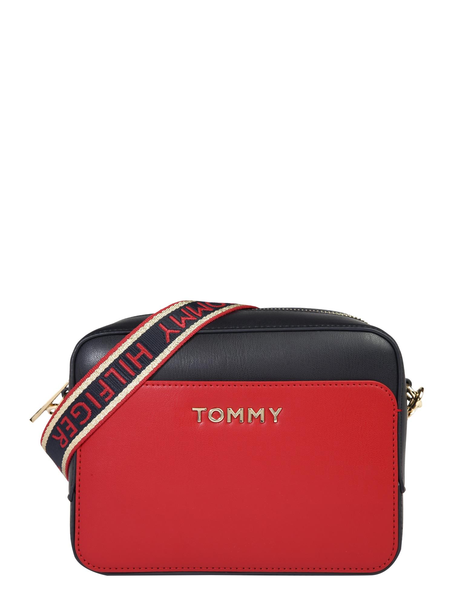 TOMMY HILFIGER Taška přes rameno  červená / námořnická modř