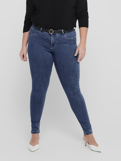 Only Carmakoma Thunder enge Push-up-Jeans mit normaler Passform