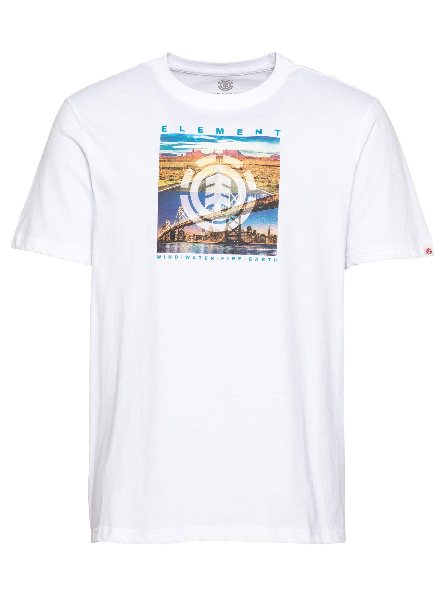 ELEMENT Marškinėliai natūrali balta / mėlyna / kaštoninė spalva / tamsiai geltona / tamsiai violetinė