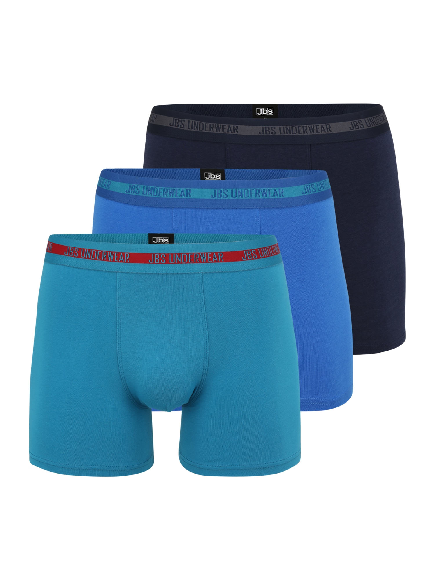 "JBS OF DENMARK Boxer trumpikės tamsiai mėlyna / sodri mėlyna (""karališka"") / turkio spalva / raudona / pilka"
