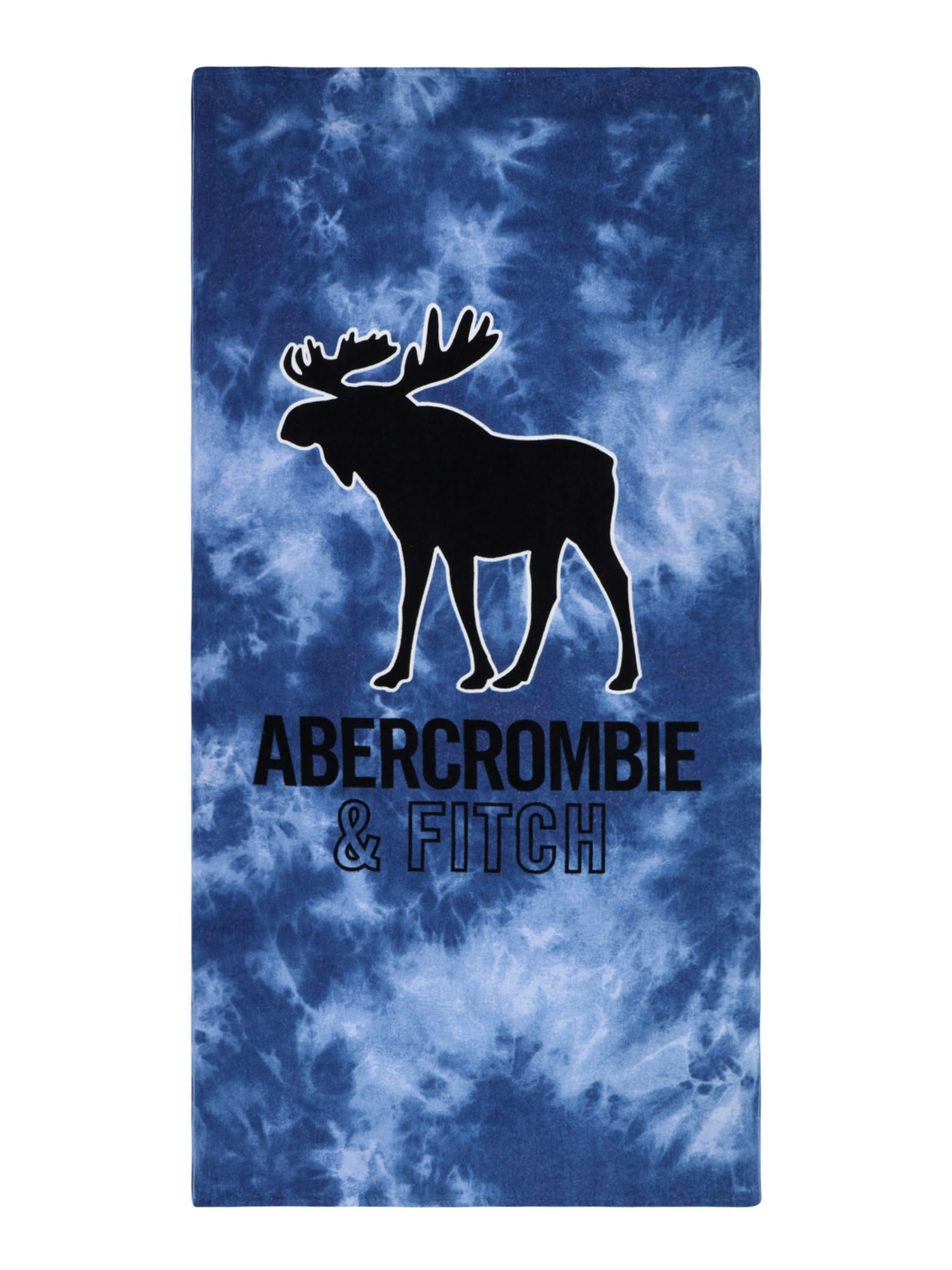 Abercrombie & Fitch Paplūdimio rankšluostis tamsiai mėlyna jūros spalva / mėlyna dūmų spalva / juoda / balta