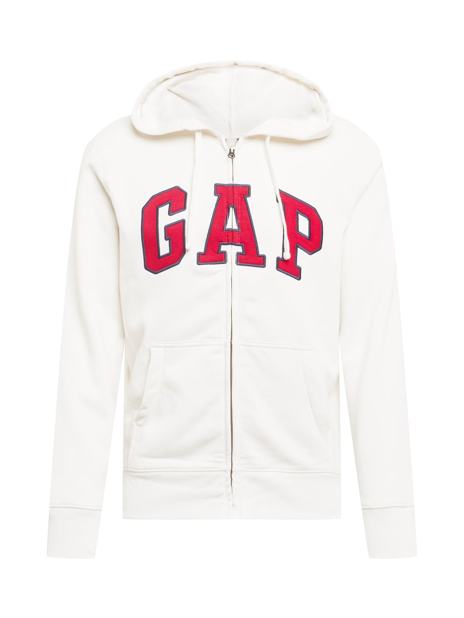 GAP Džemperis balta / tamsiai mėlyna / ugnies raudona