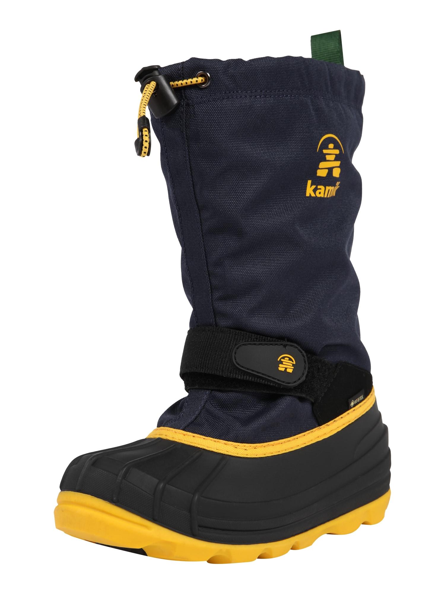 Kamik Sniego batai 'Waterbug8g' tamsiai mėlyna / juoda / geltona / žalia