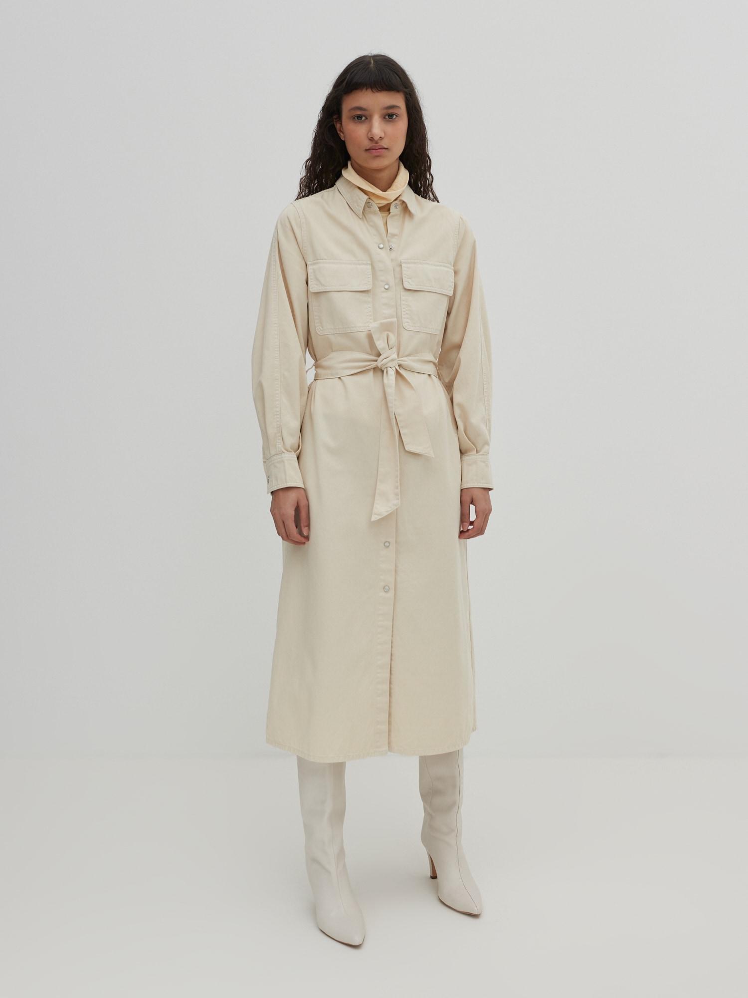 EDITED Košeľové šaty 'Leilan'  biely denim.