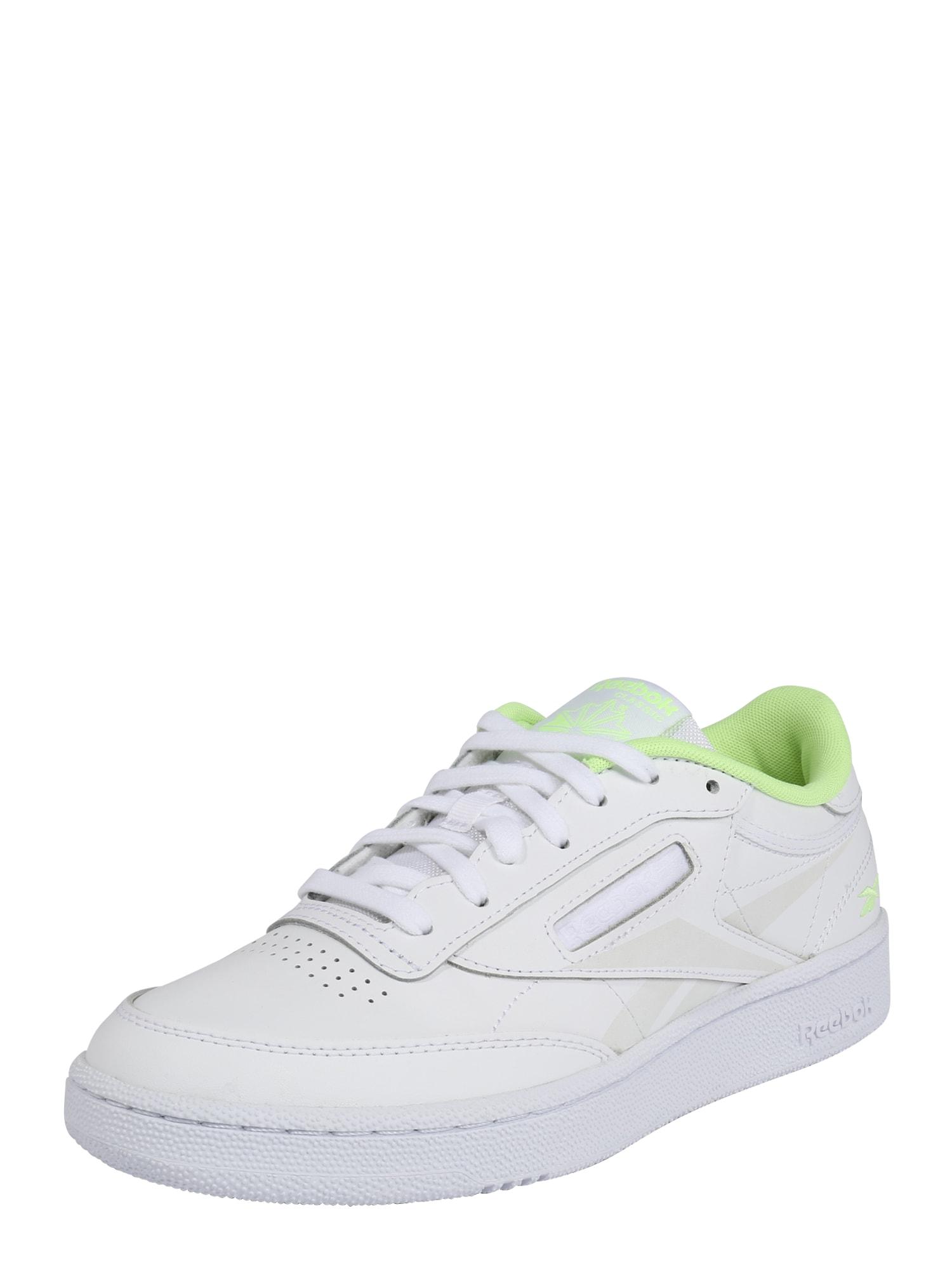 Reebok Classic Nízke tenisky  neónovo zelená / biela