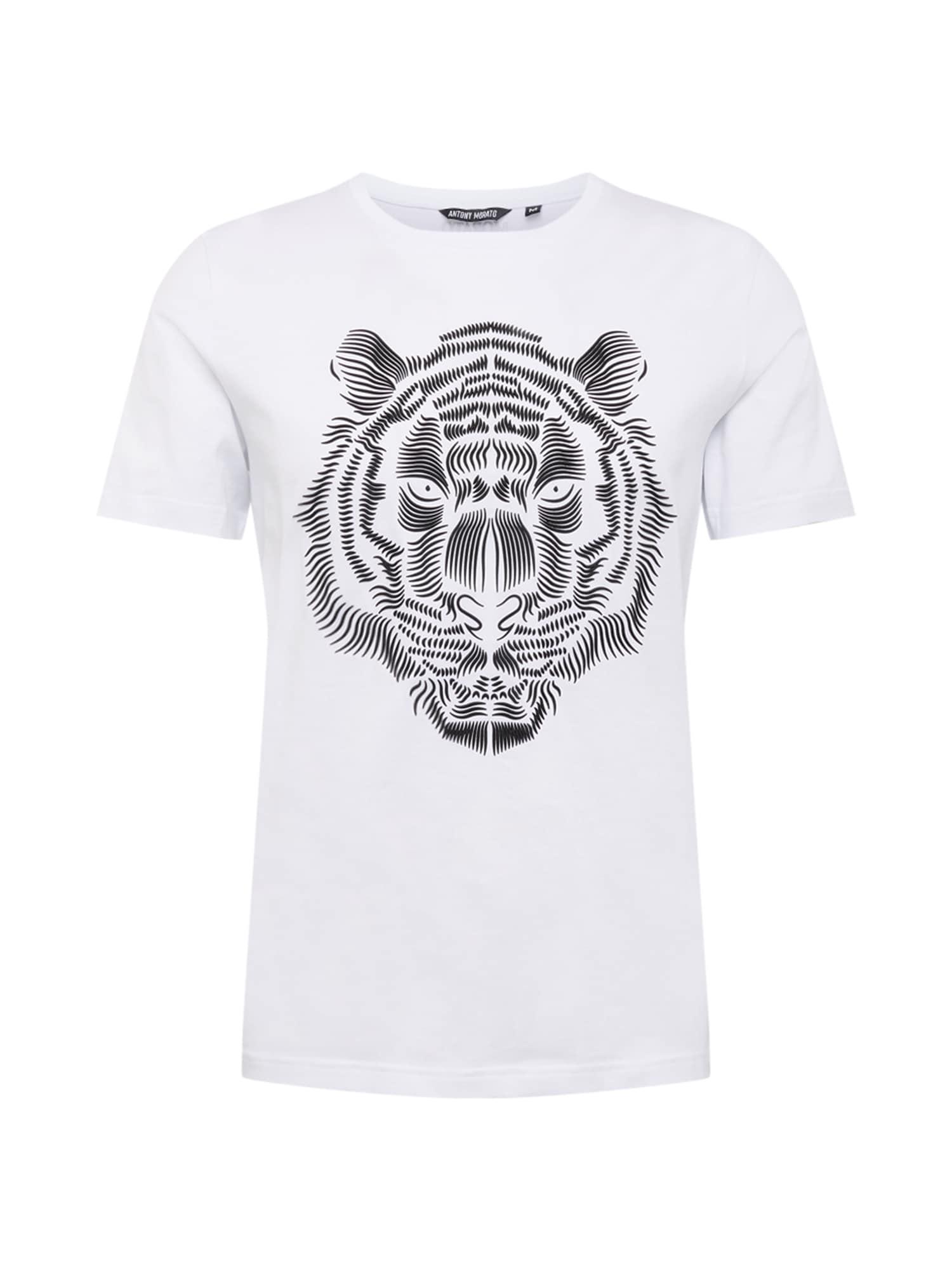 ANTONY MORATO Marškinėliai balta / juoda