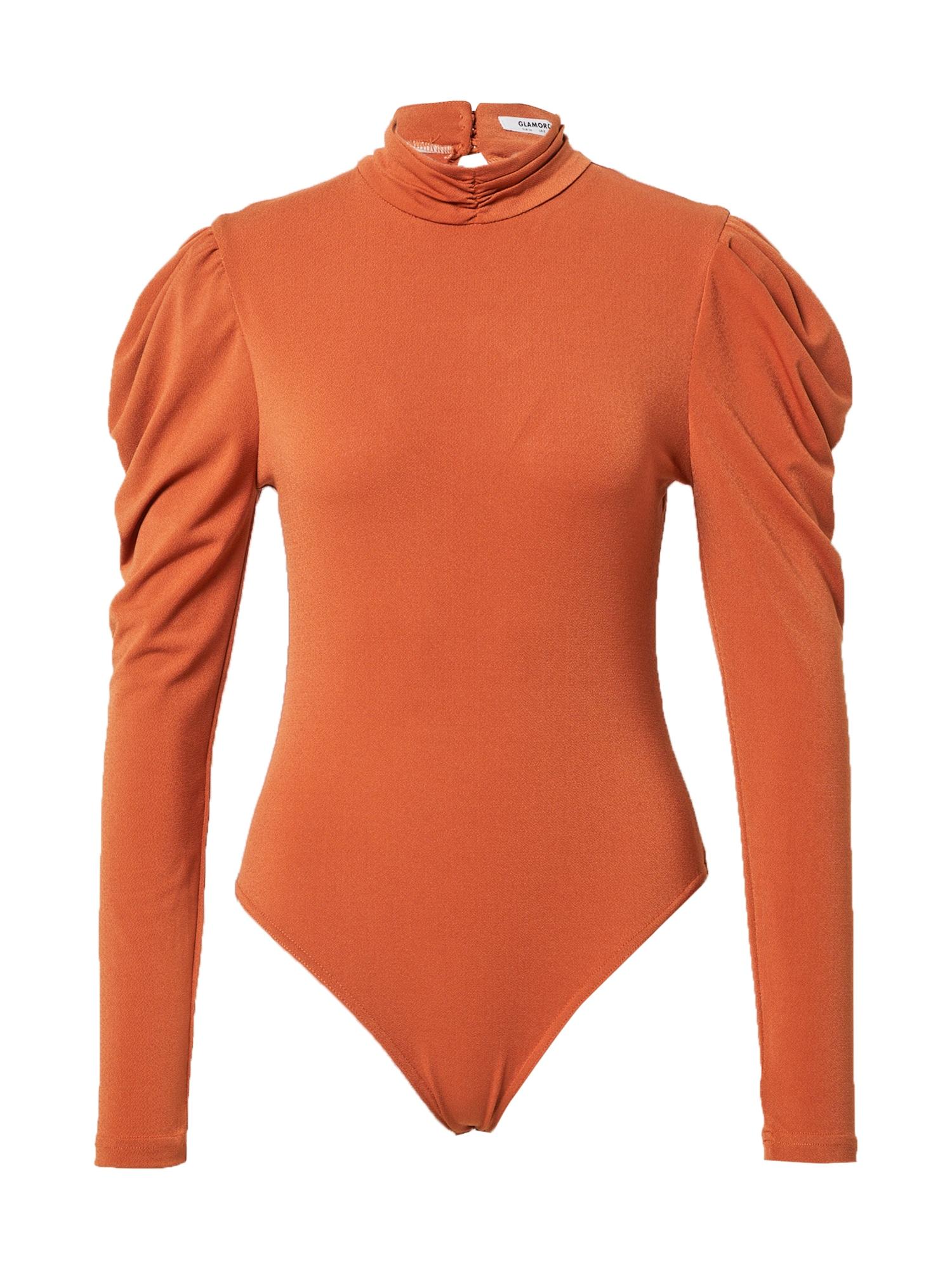 GLAMOROUS Marškinėliai-glaustinukė oranžinė-raudona