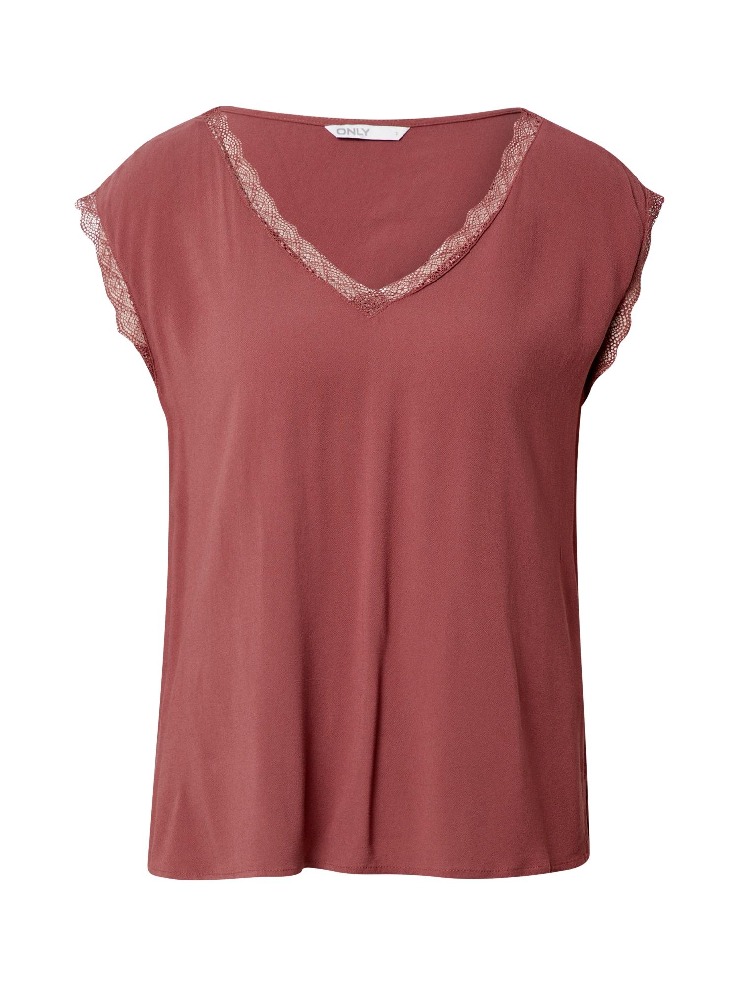 ONLY Marškinėliai 'JASMINA' pastelinė raudona