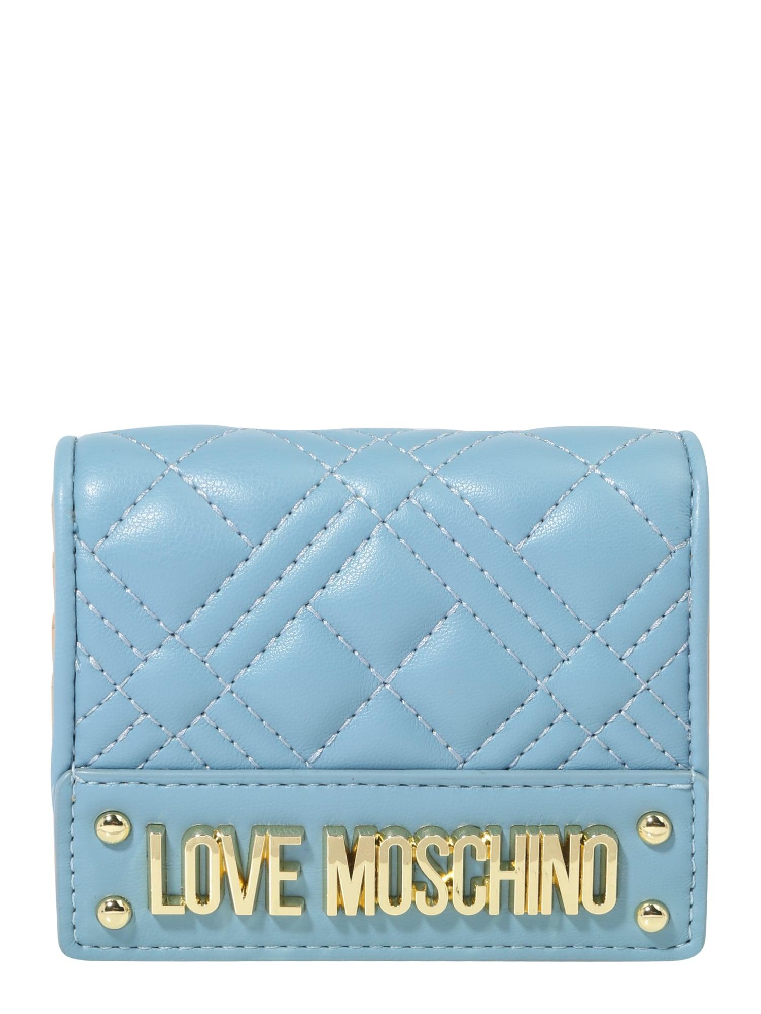 Love Moschino Piniginė mėlyna dūmų spalva