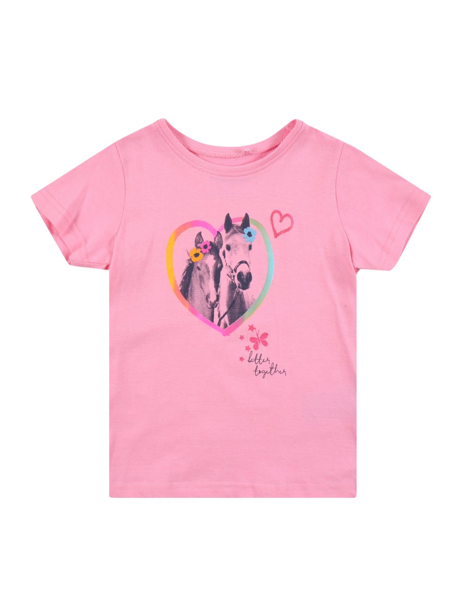 BLUE SEVEN Marškinėliai šviesiai rožinė / melsvai pilka / mišrios spalvos