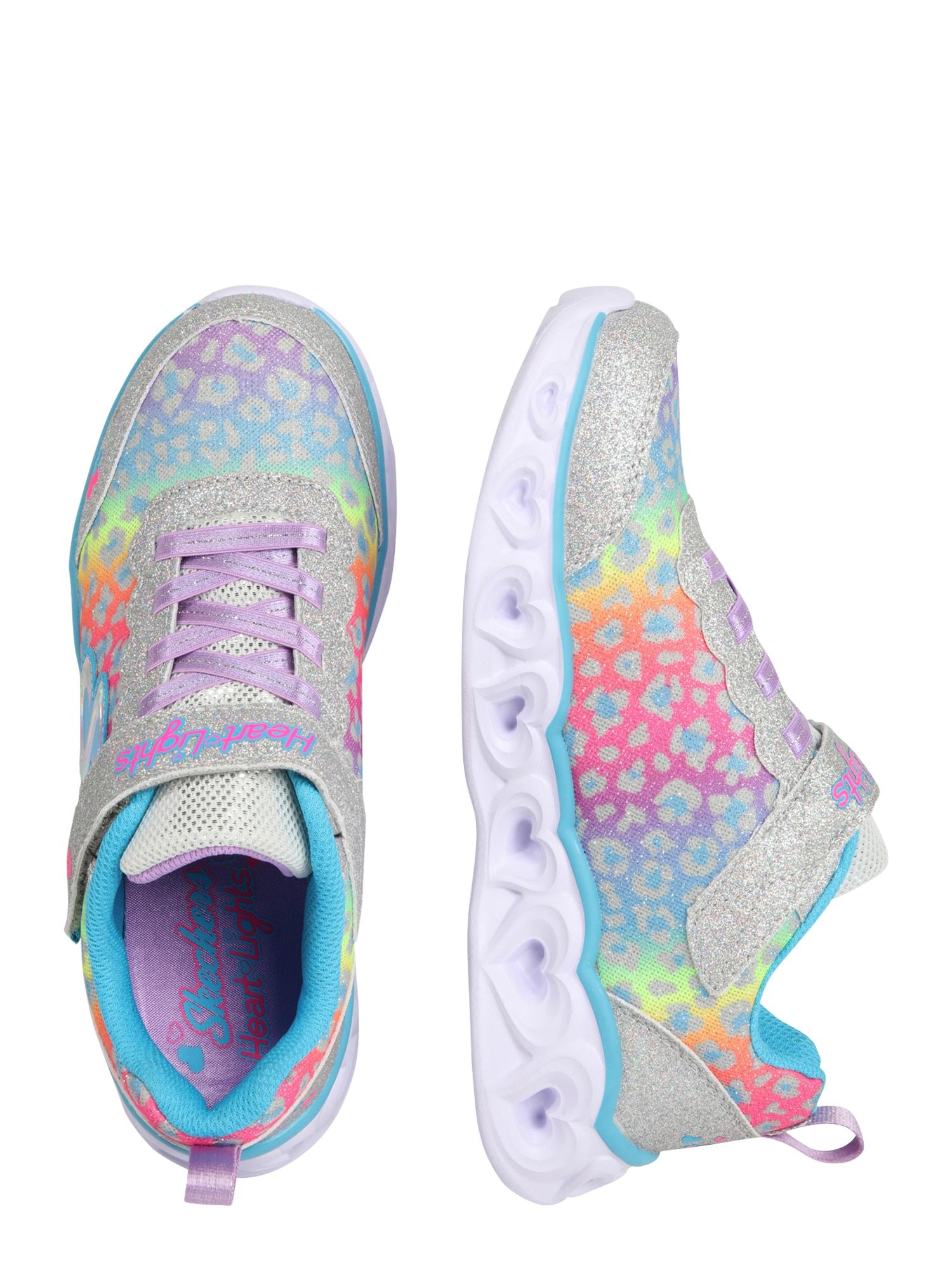 SKECHERS Sneaker 'HEART LIGHTS'  silver / blandade färger